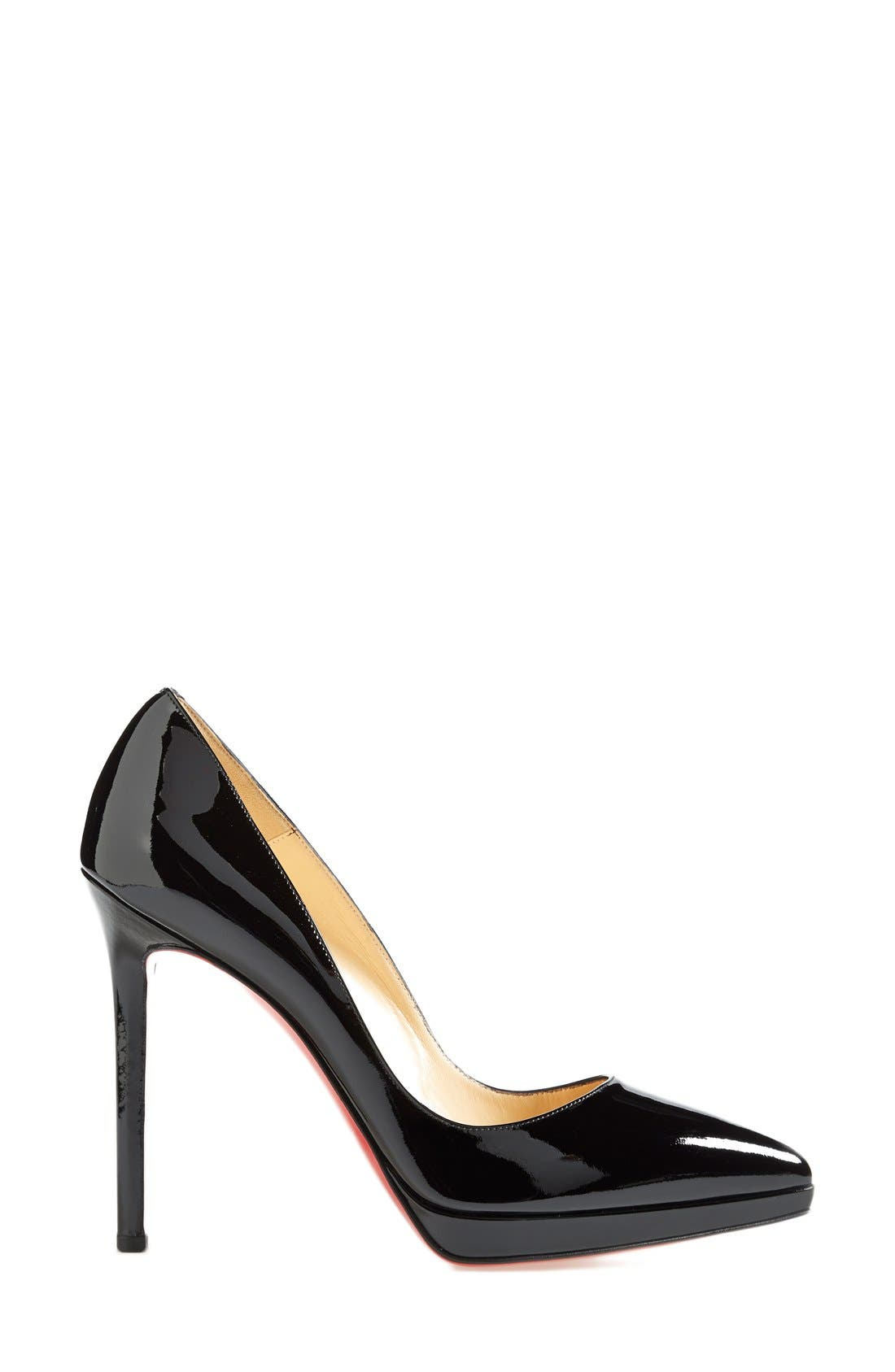 'Pigalle Plato' Pointy Toe Pump,                             Alternate thumbnail 4, color,                             001