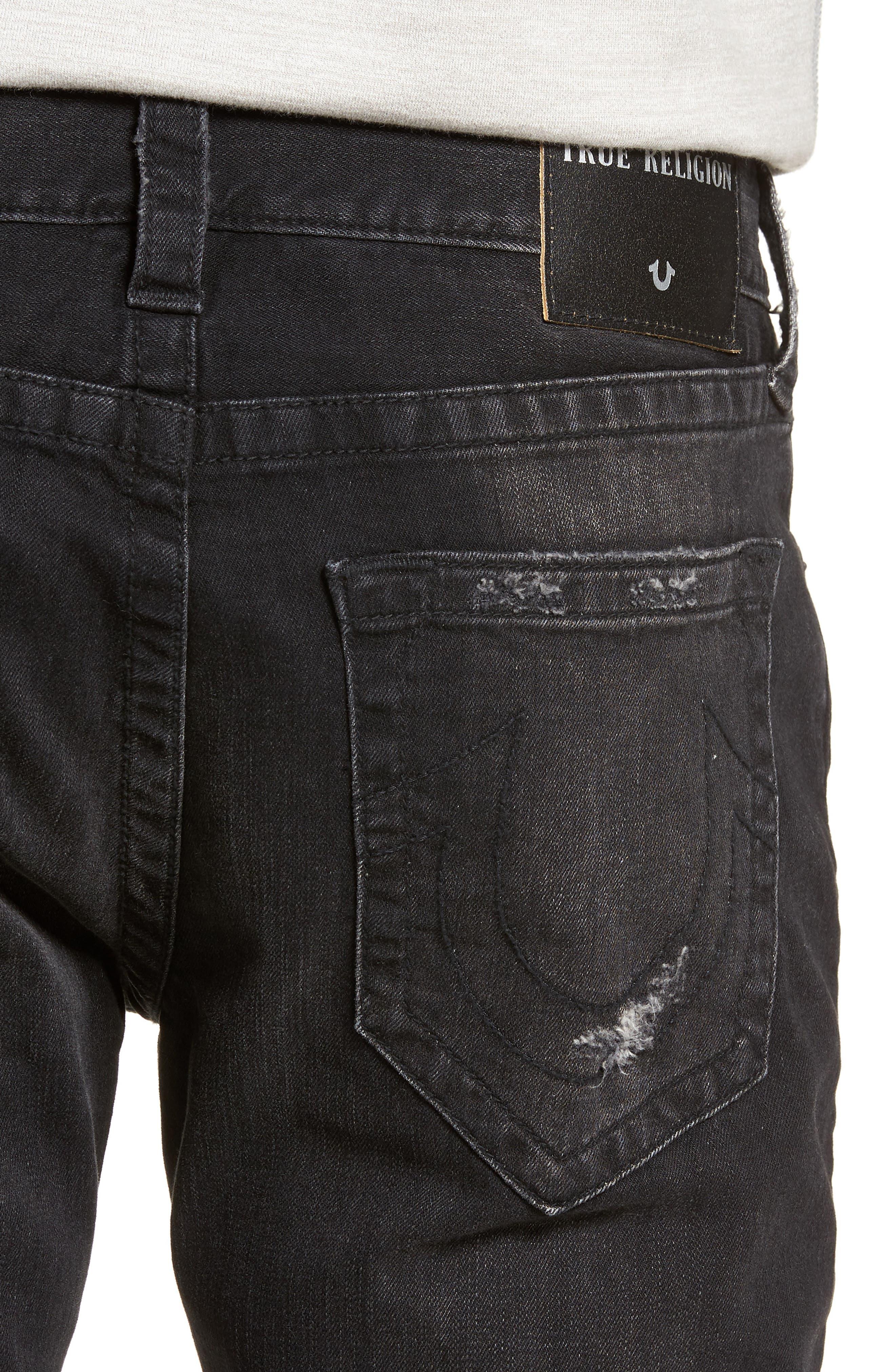 Rocco Skinny Fit Jeans,                             Alternate thumbnail 4, color,                             EQYD DARK STREET