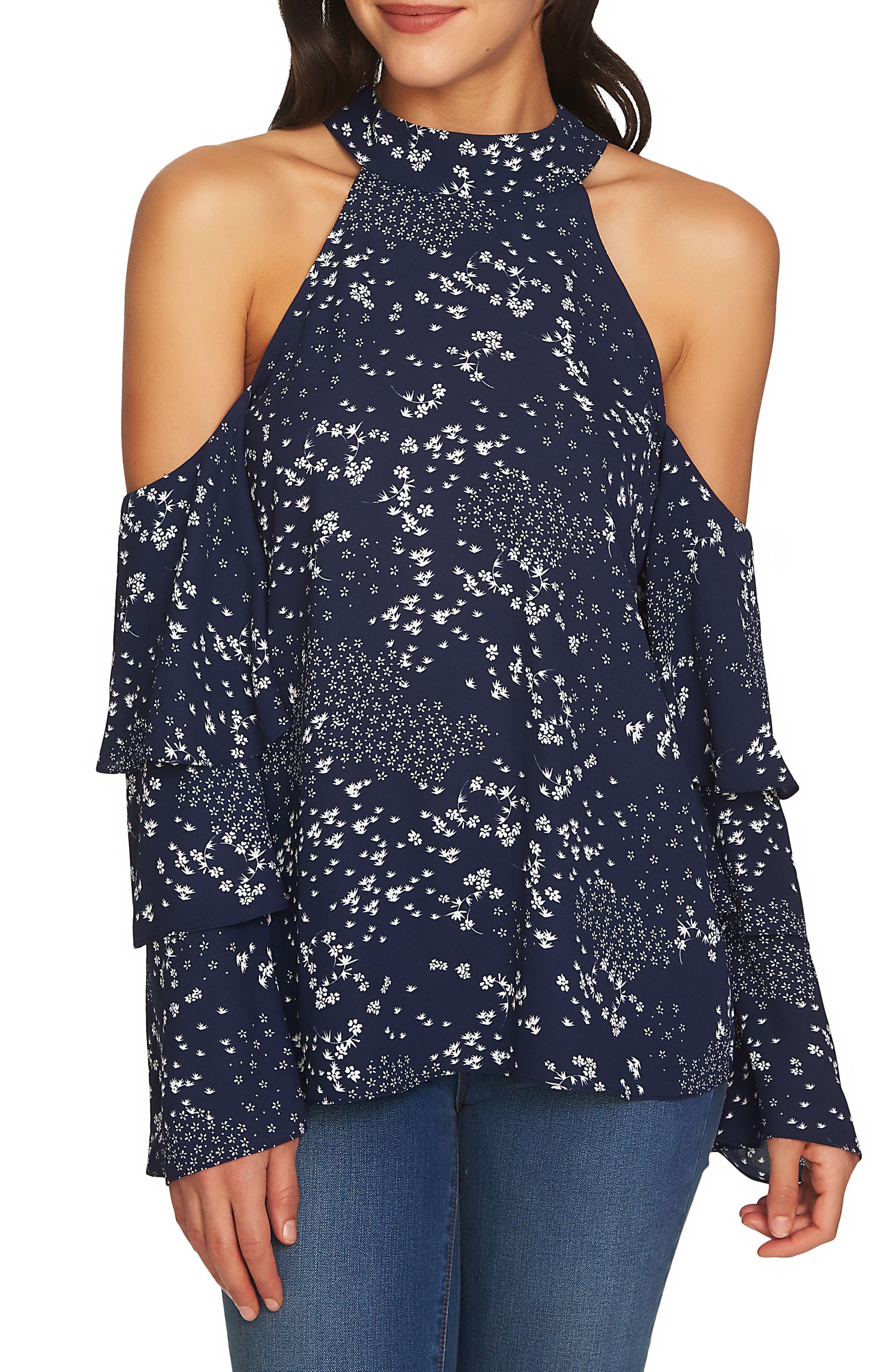 Cold Shoulder Blouse,                         Main,                         color, 453