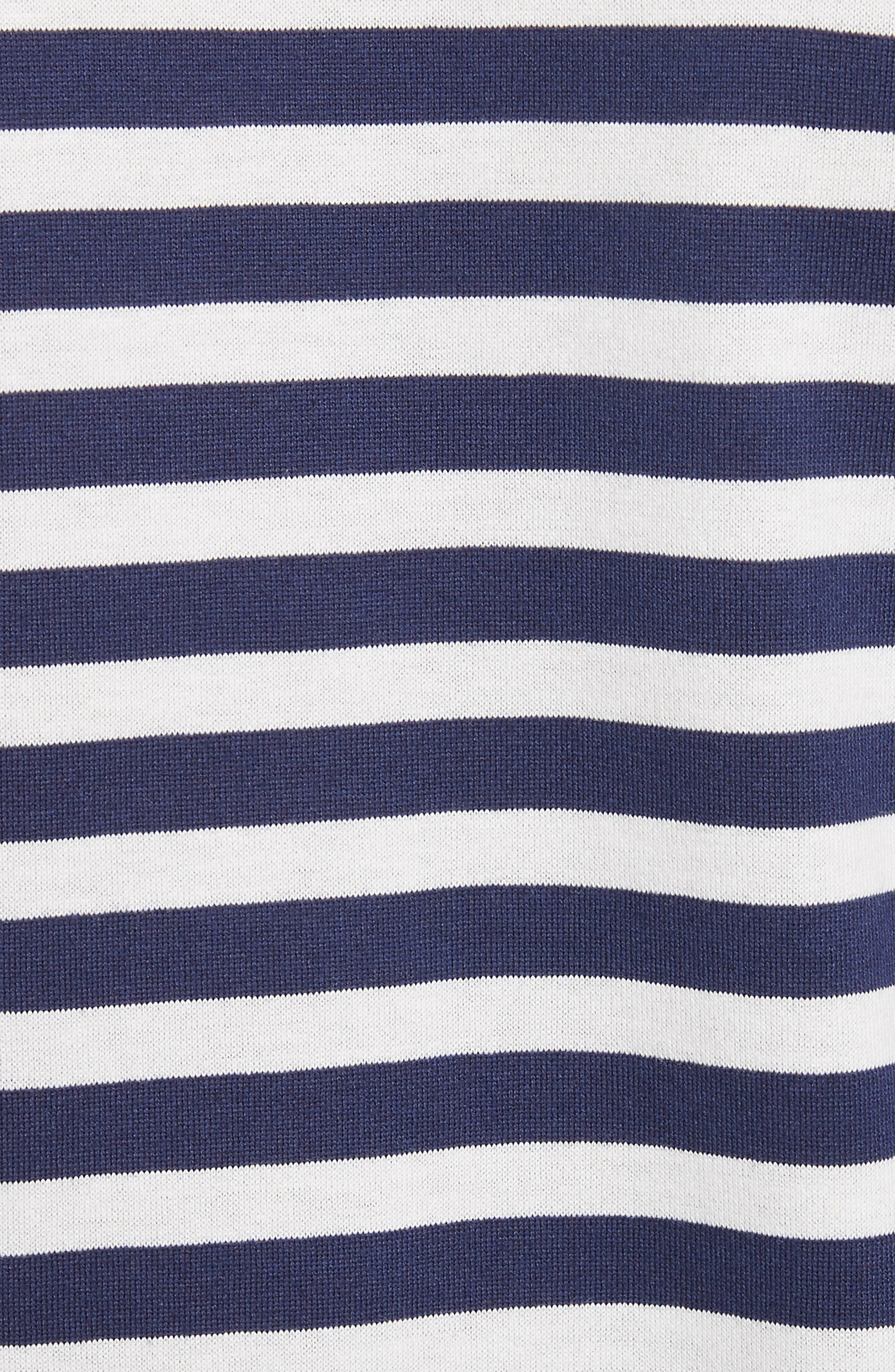 Stripe Long Sleeve T-Shirt,                             Alternate thumbnail 5, color,                             415