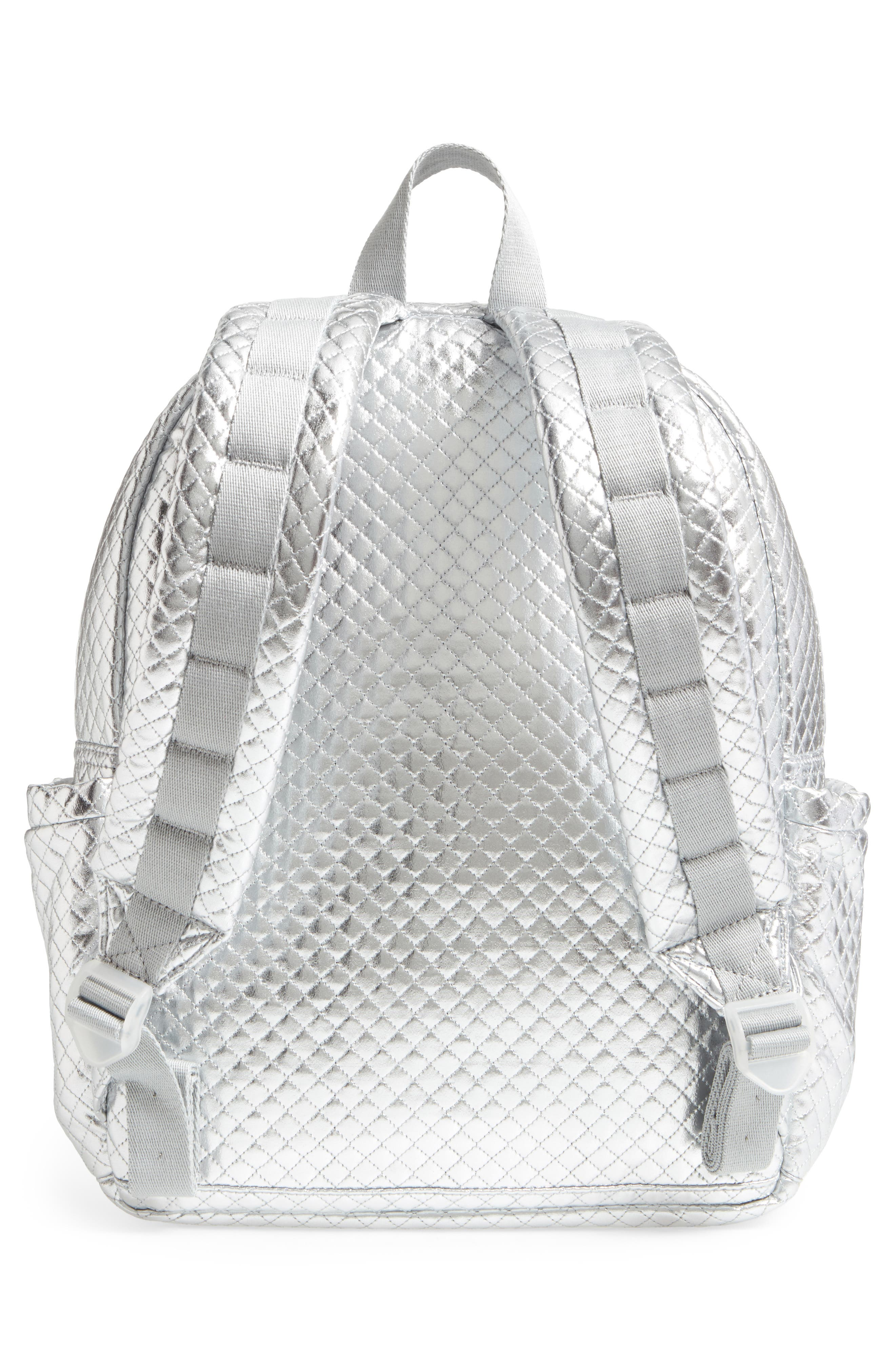 Quilted Metallic Kane Backpack,                             Alternate thumbnail 3, color,                             041