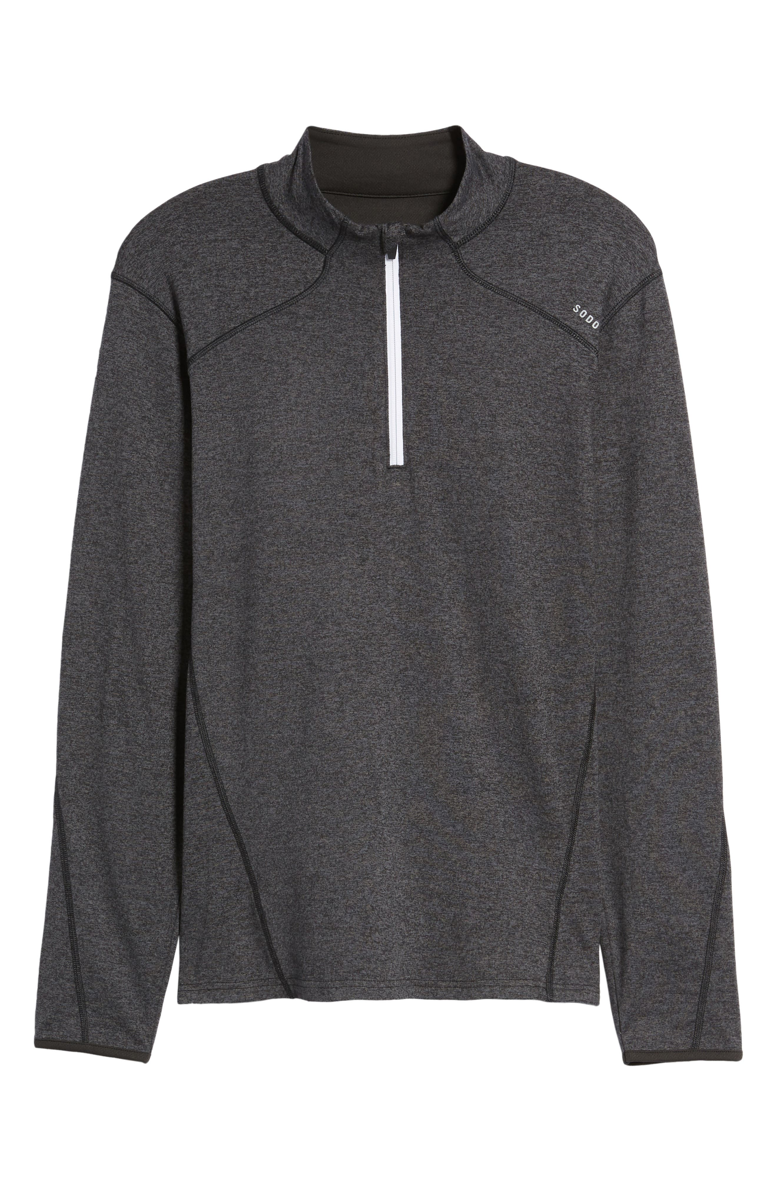 'Elevate' Moisture Wicking Stretch Quarter Zip Pullover,                             Alternate thumbnail 6, color,                             001