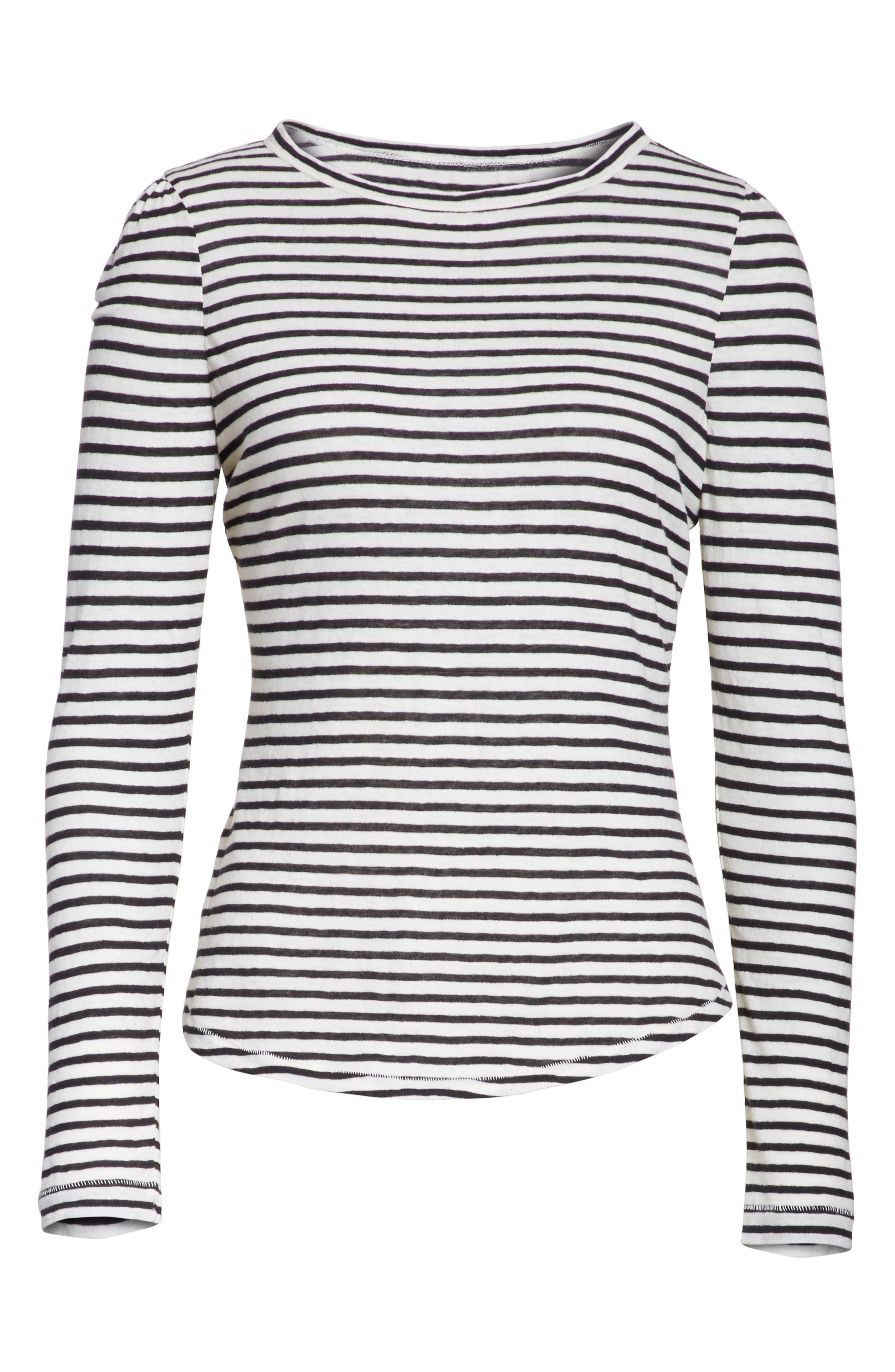 Long Sleeve Stripe Tee,                             Alternate thumbnail 6, color,                             904