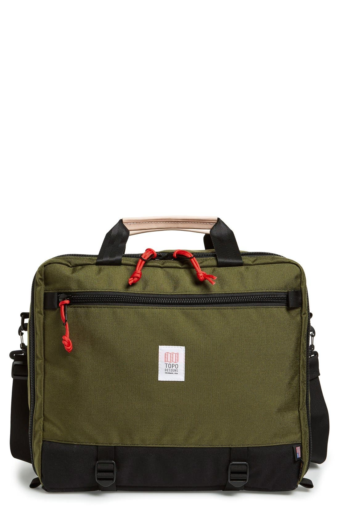 '3-Day' Briefcase,                         Main,                         color, BLACK/ OLIVE