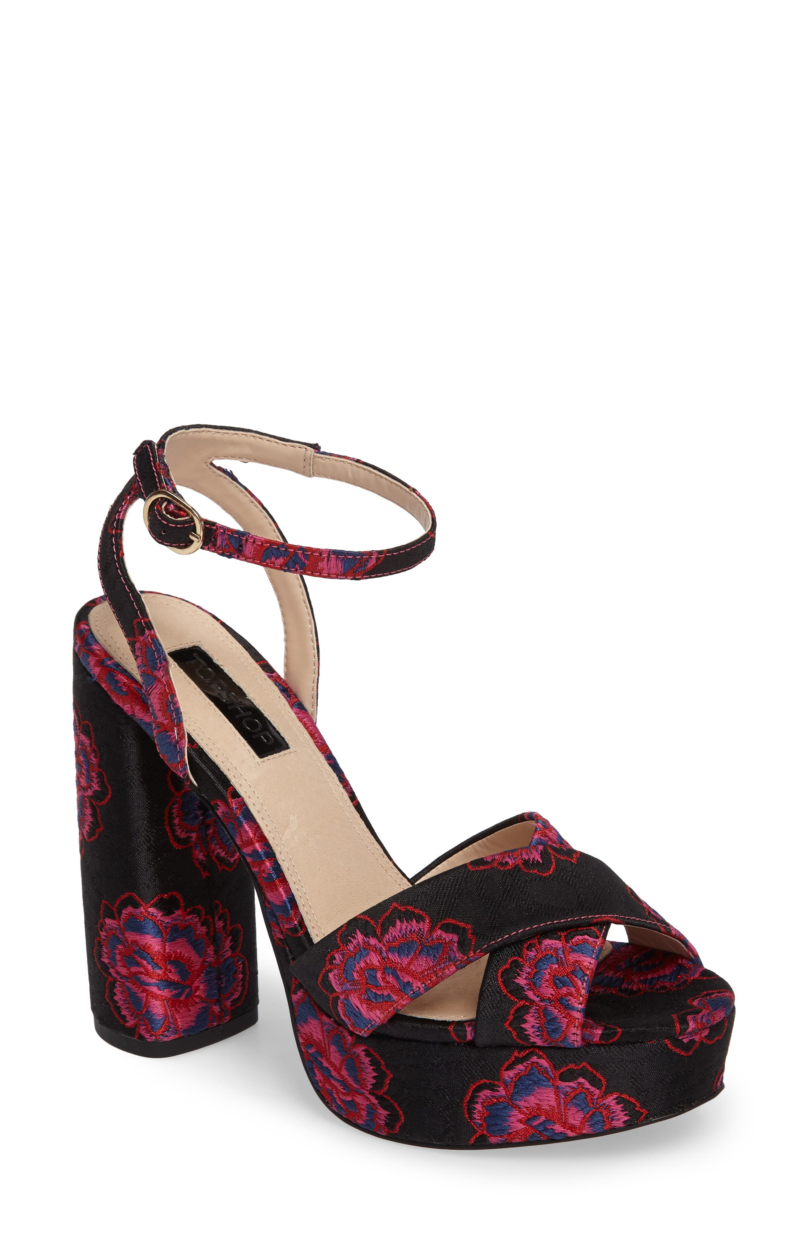 Lollie Embroidered Sandals,                         Main,                         color, 001