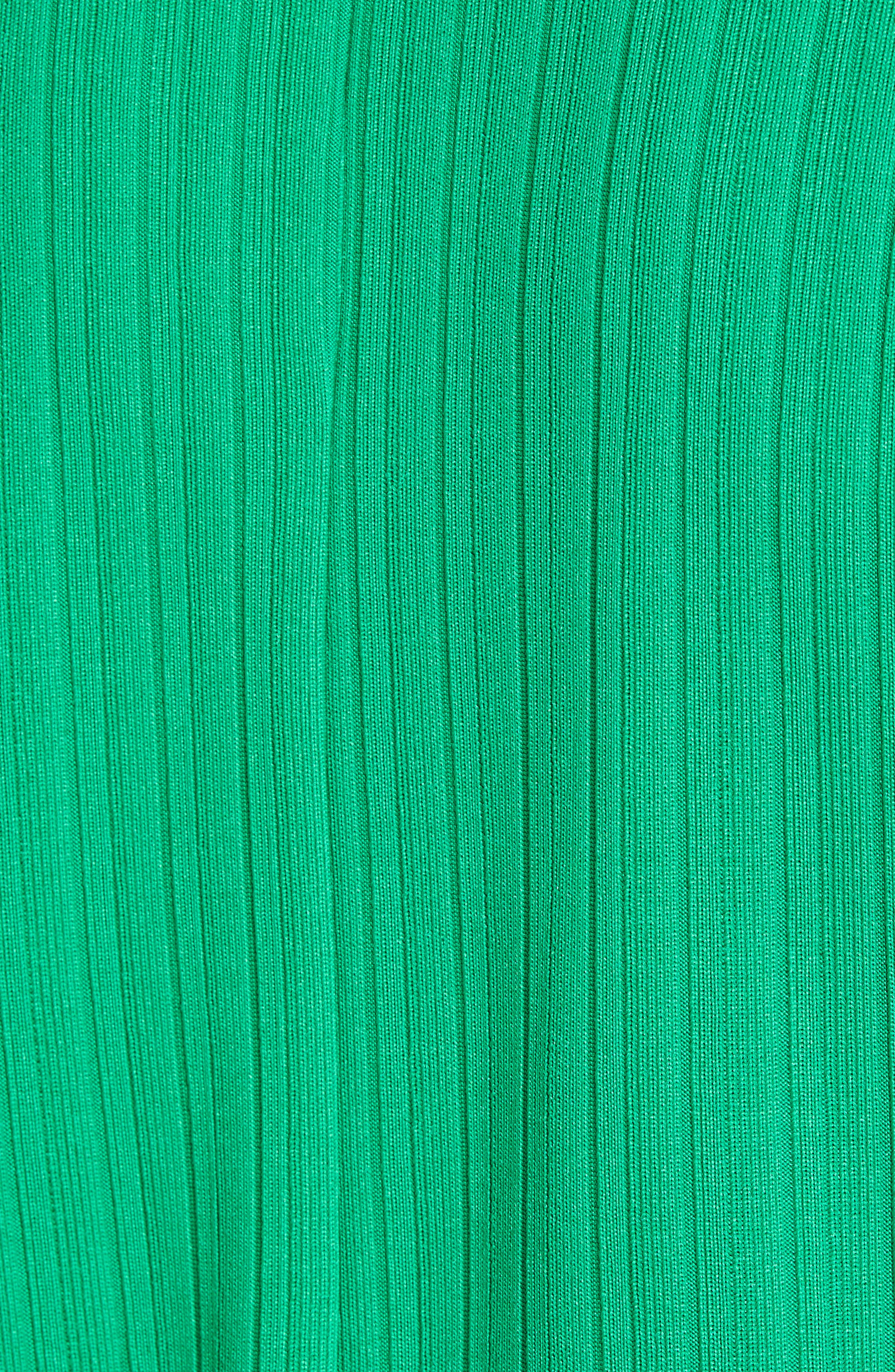 Ribbed Knit Cold Shoulder Top,                             Alternate thumbnail 5, color,                             347