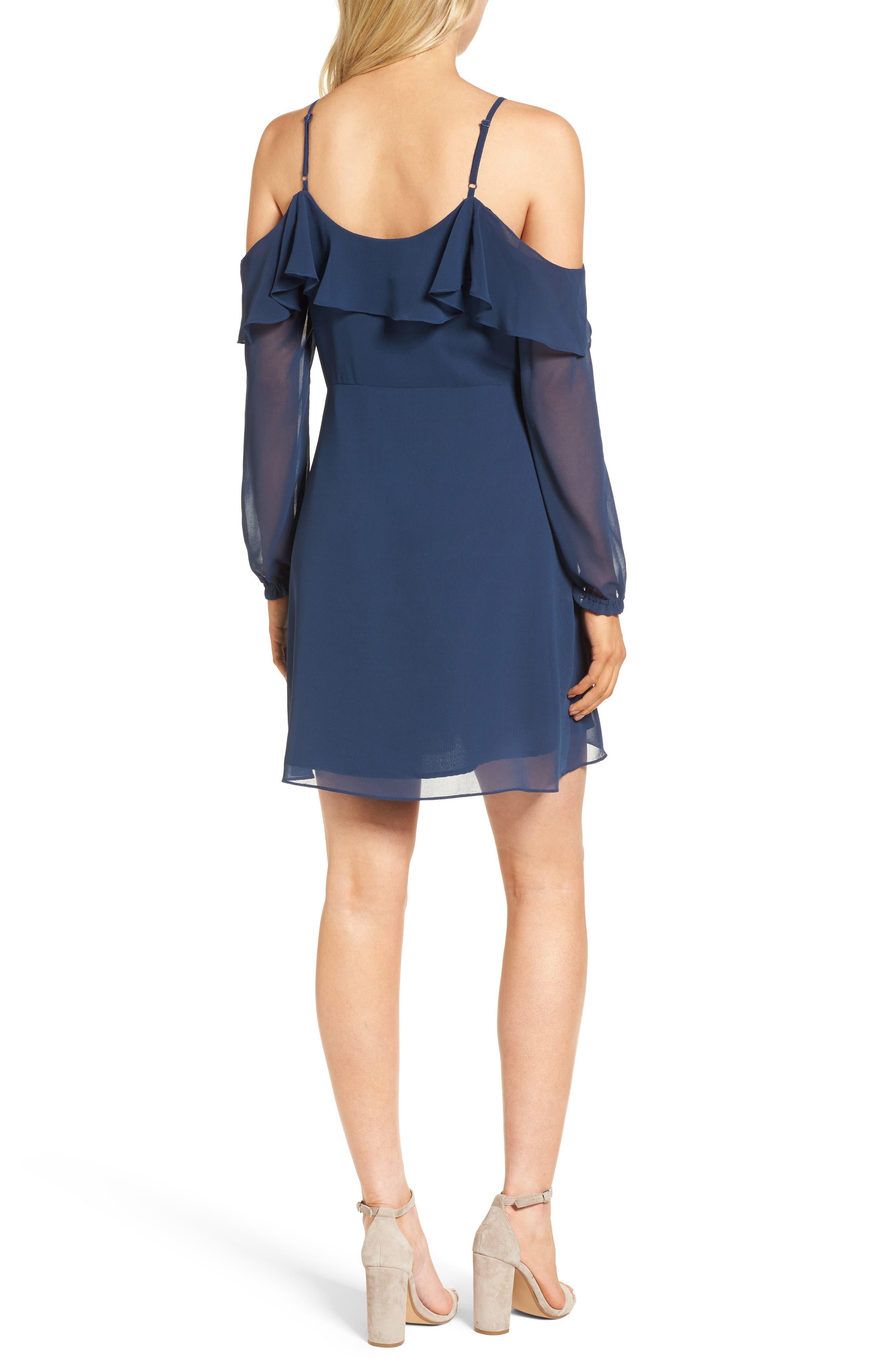 Sundra Cold Shoulder Dress,                             Alternate thumbnail 2, color,                             400