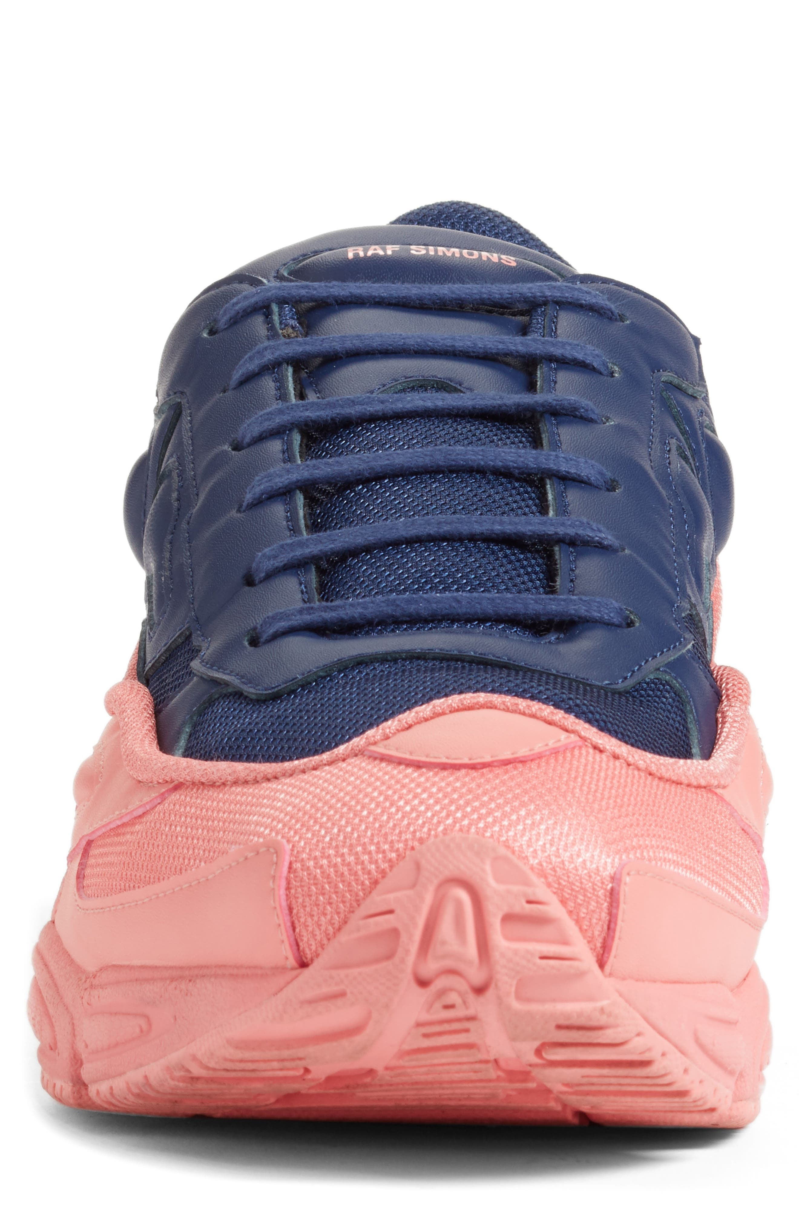adidas by Raf Simons Ozweego III Sneaker,                             Alternate thumbnail 4, color,                             TACTILE ROSE/ DARK BLUE