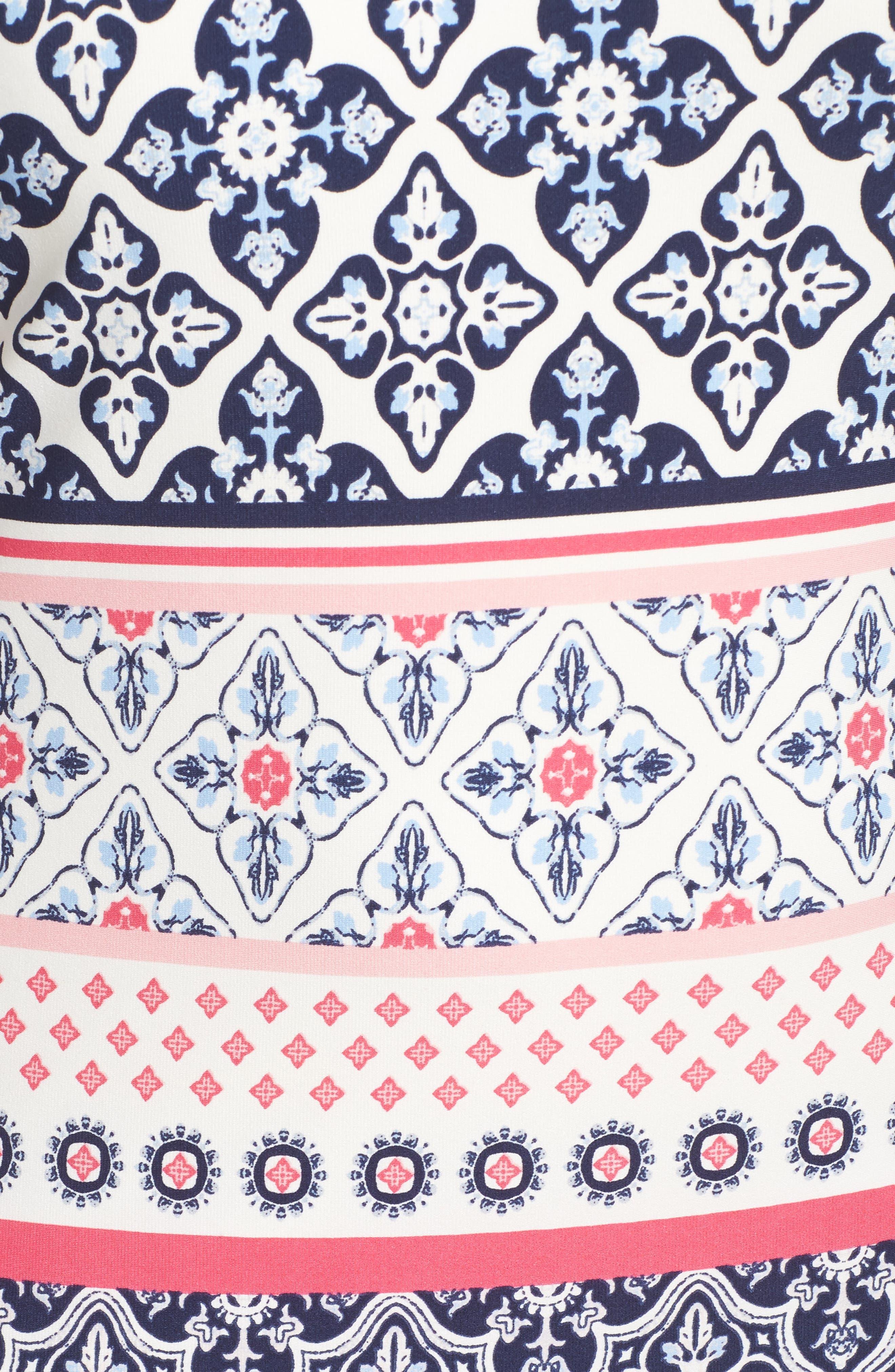 Print Shift Dress,                             Alternate thumbnail 5, color,                             410