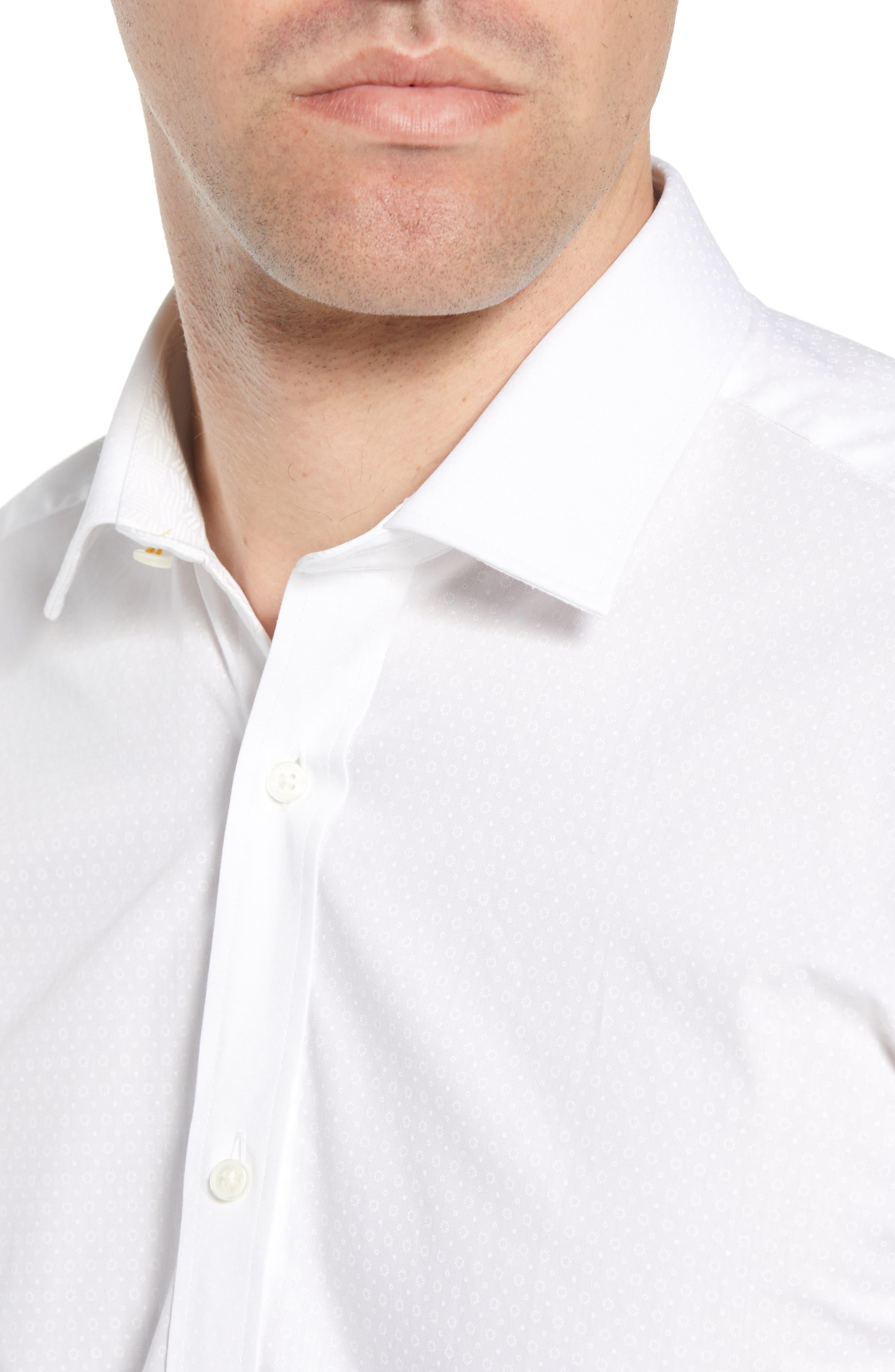 Loops Slim Fit Dress Shirt,                             Alternate thumbnail 2, color,                             110
