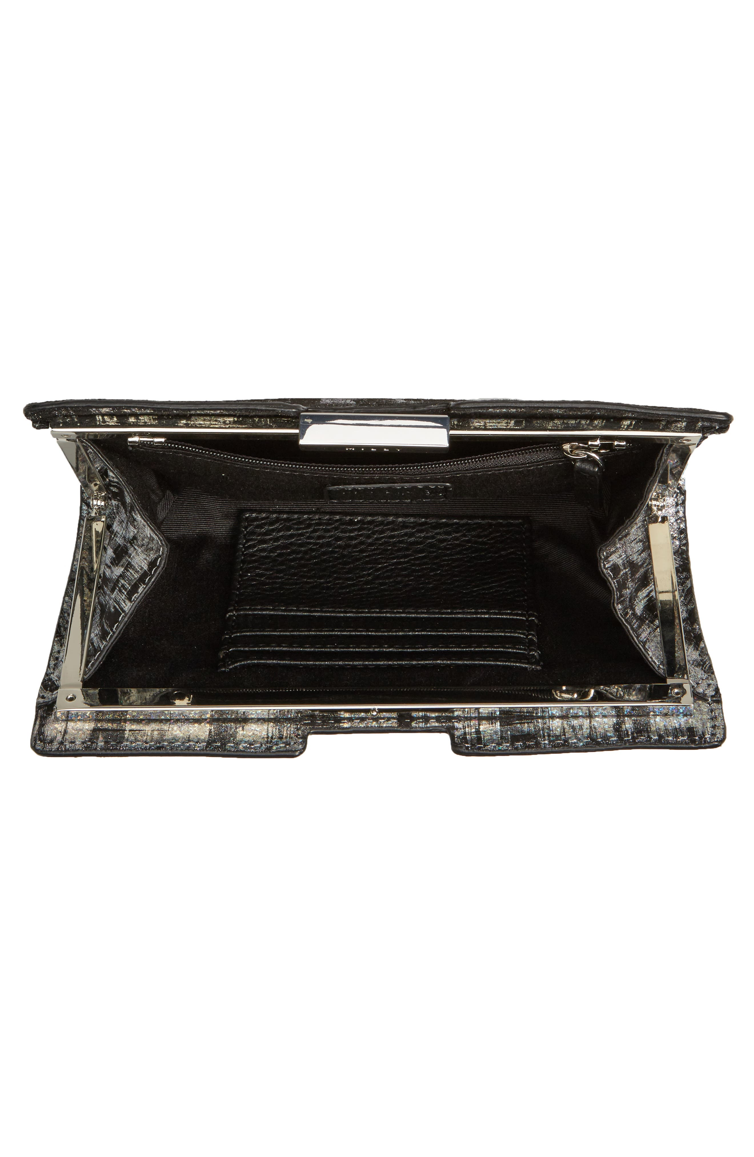 Brushstroke Suede Frame Clutch,                             Alternate thumbnail 4, color,                             041