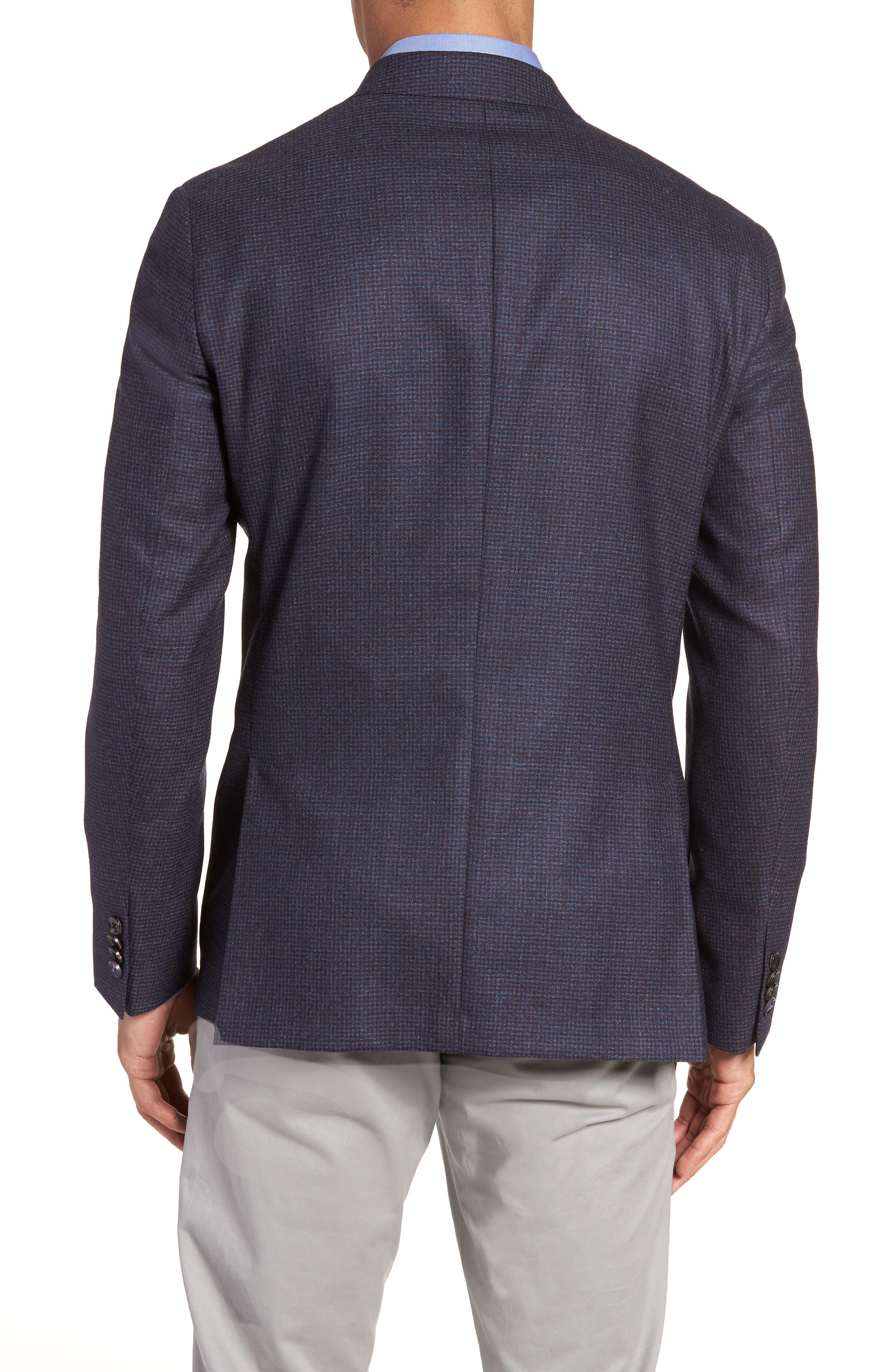 Konan Trim Fit Microcheck Wool Sport Coat,                             Alternate thumbnail 2, color,                             400