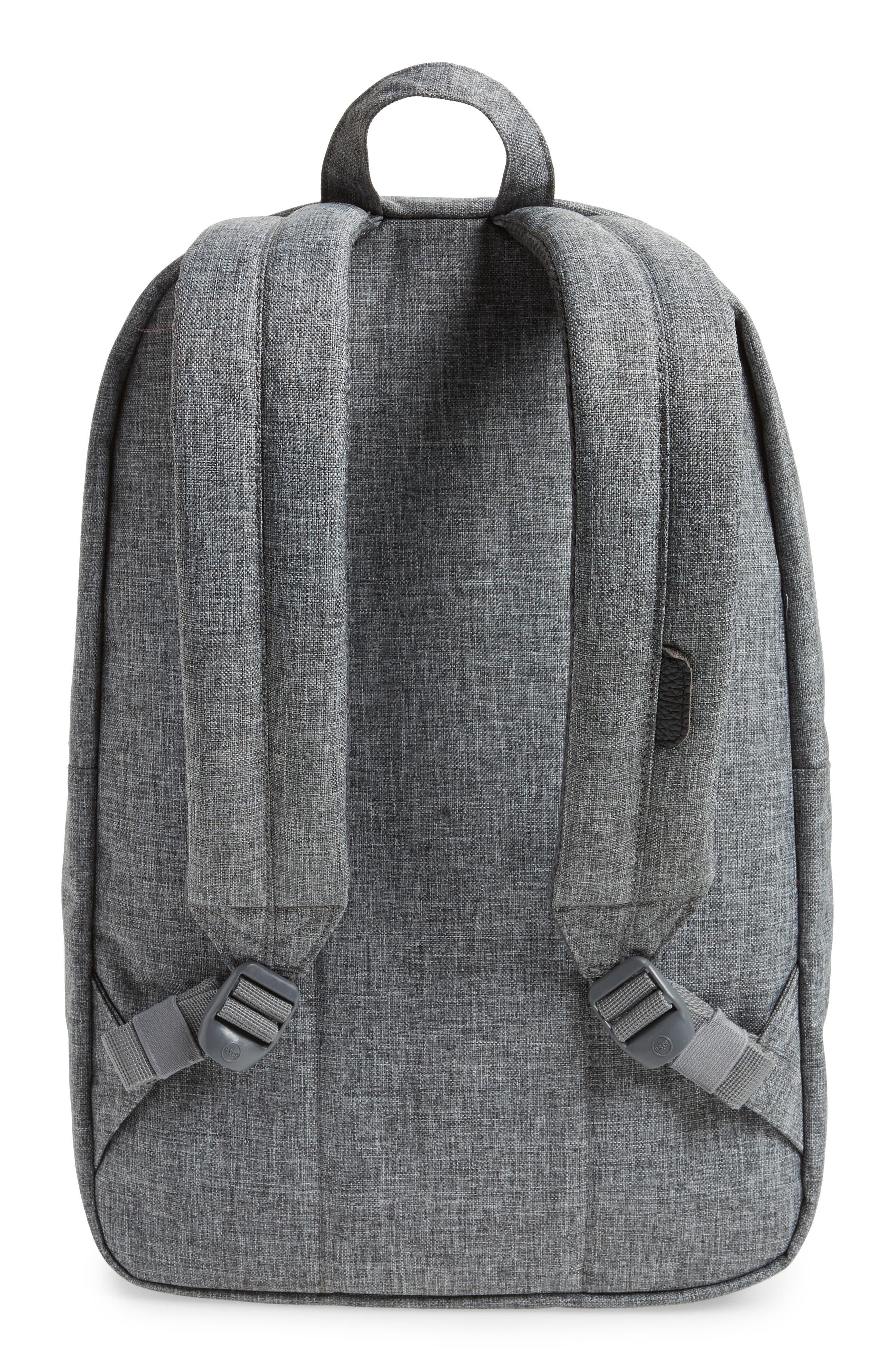 Heritage Backpack,                             Alternate thumbnail 4, color,                             RAVEN CROSSHATCH/ BLACK