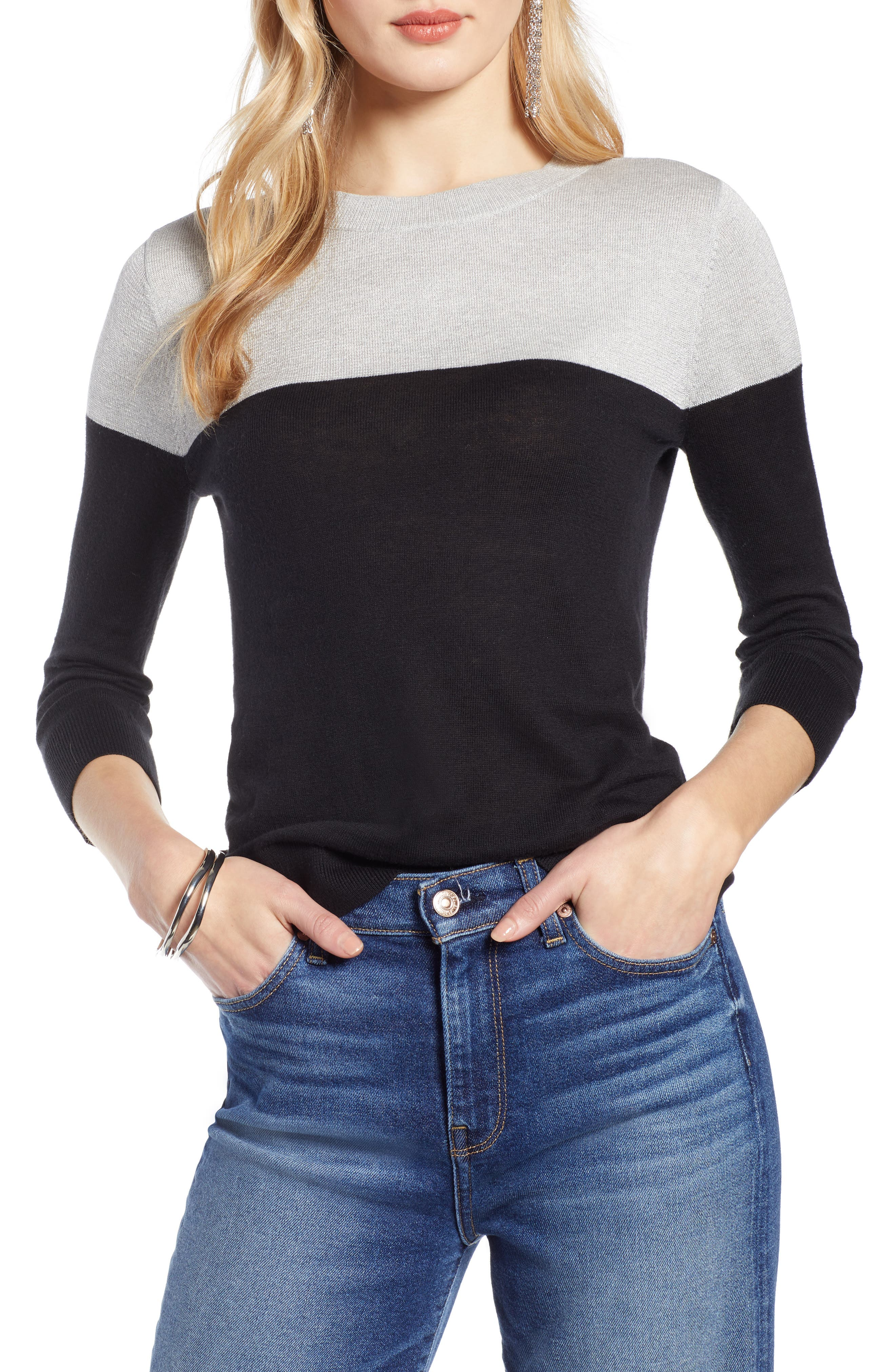colorblock-sweater by halogen
