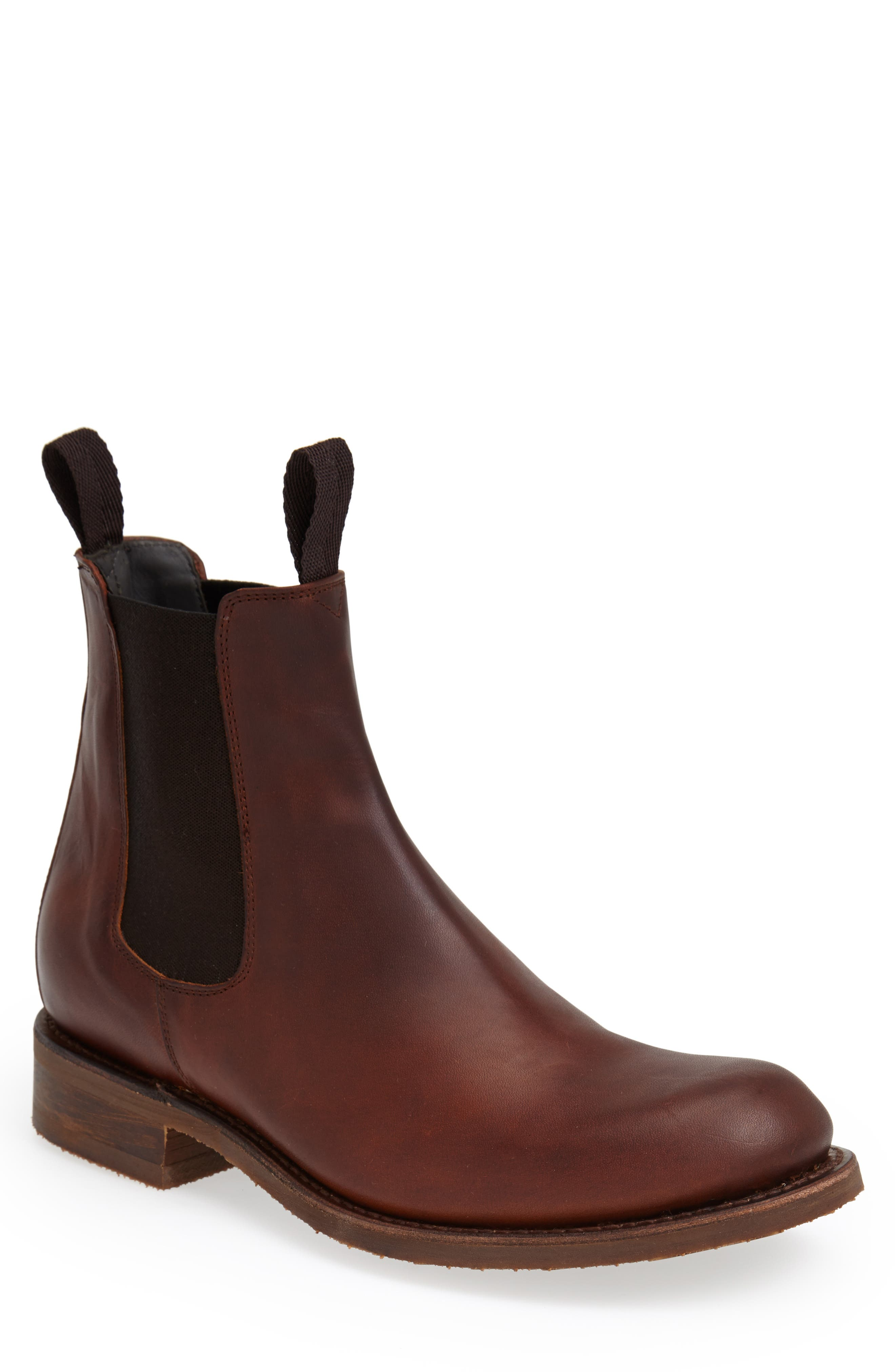 'Al' Chelsea Boot,                             Alternate thumbnail 4, color,                             TAN