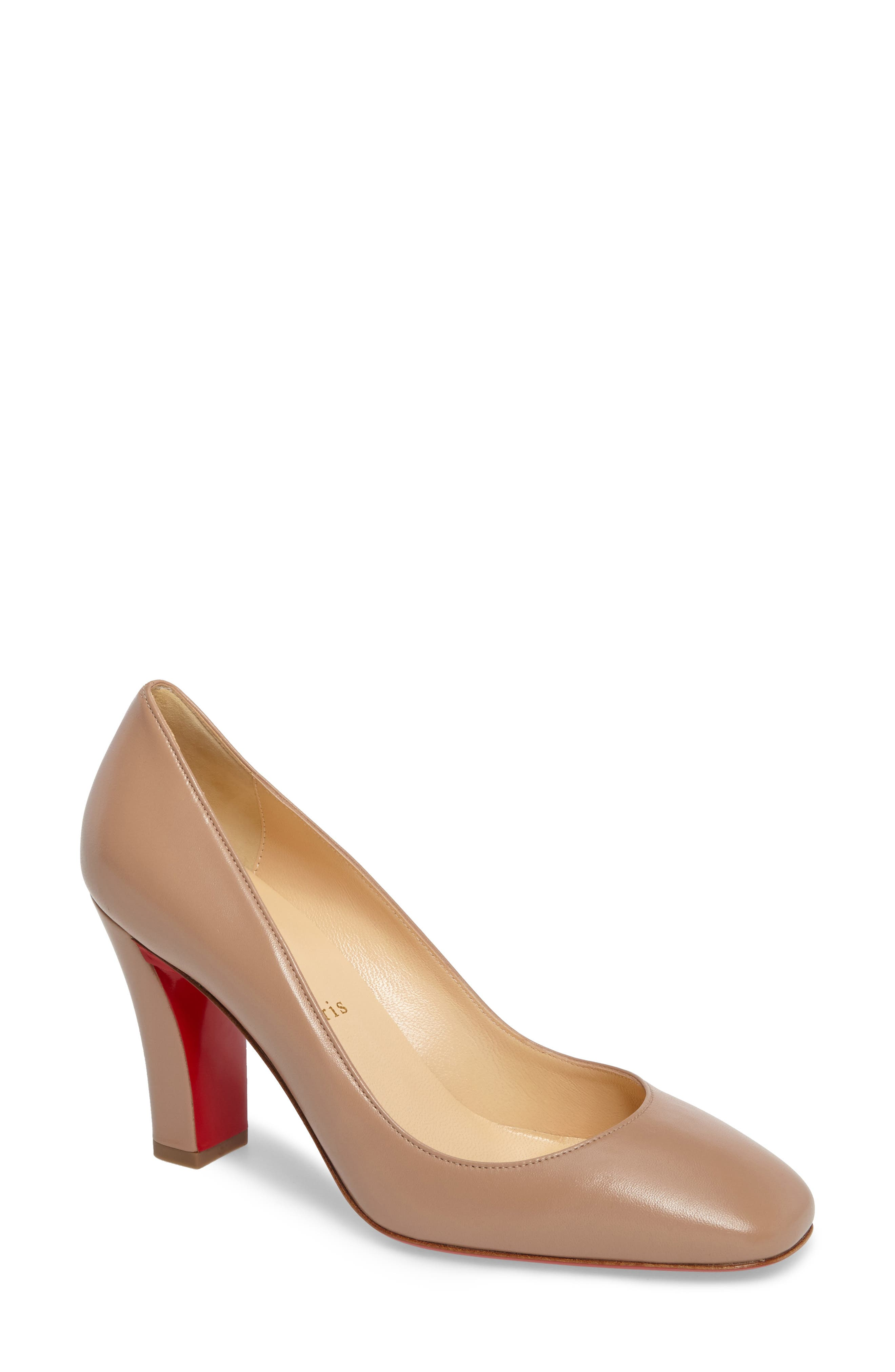 Viva Pump,                             Main thumbnail 1, color,                             NUDE LEATHER