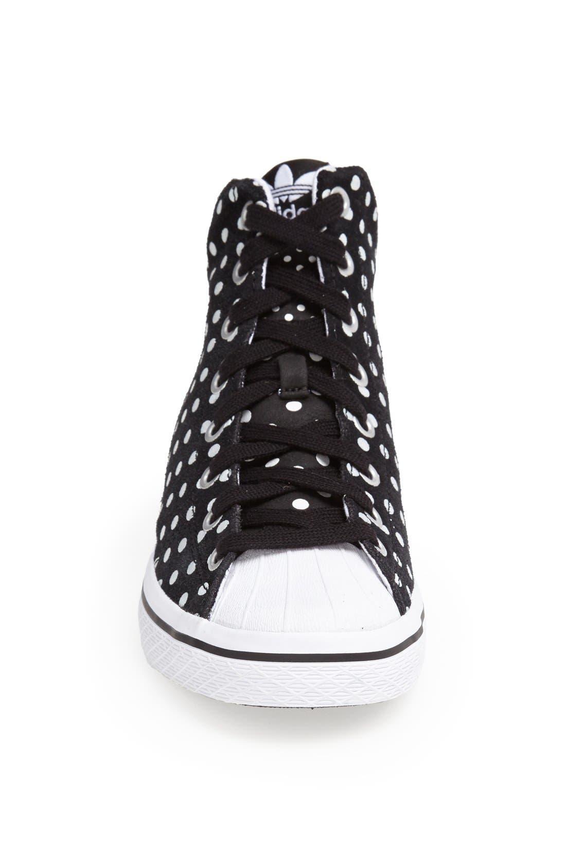 'Star' High Top Sneaker,                             Alternate thumbnail 4, color,                             001