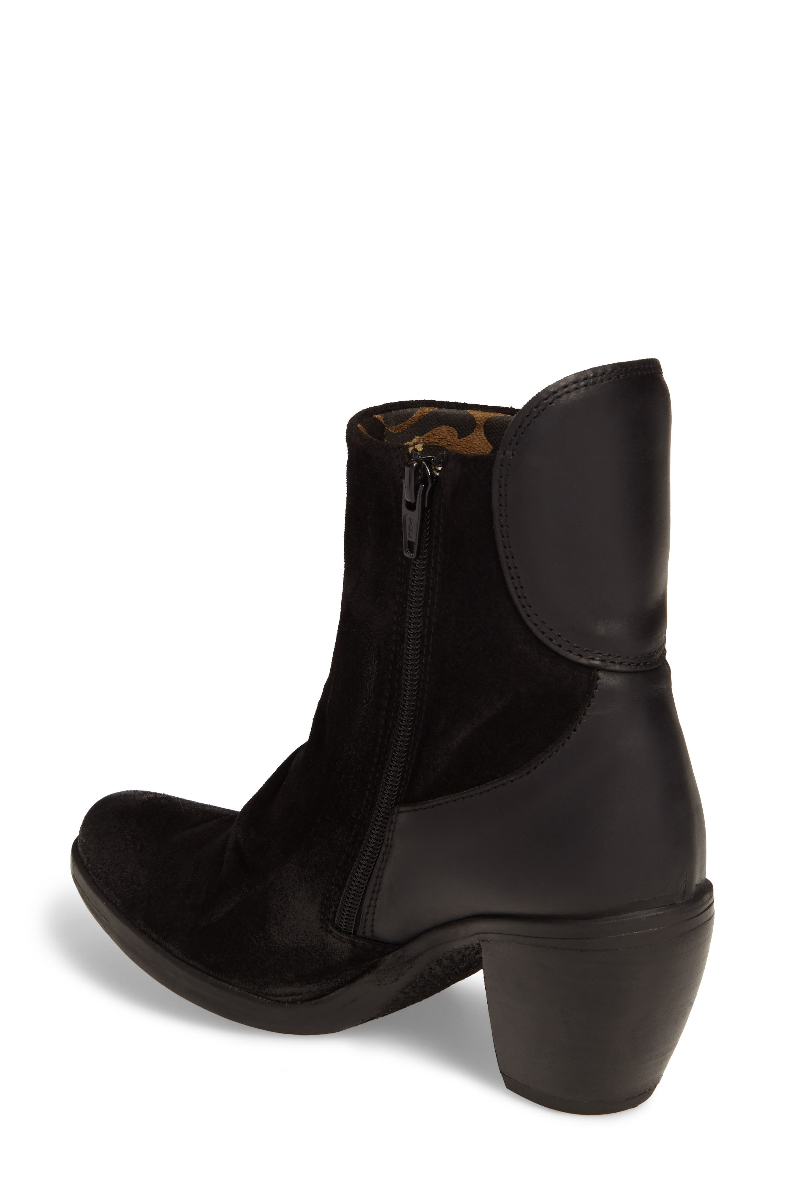 Hota Slouch Bootie,                             Alternate thumbnail 2, color,                             BLACK LEATHER