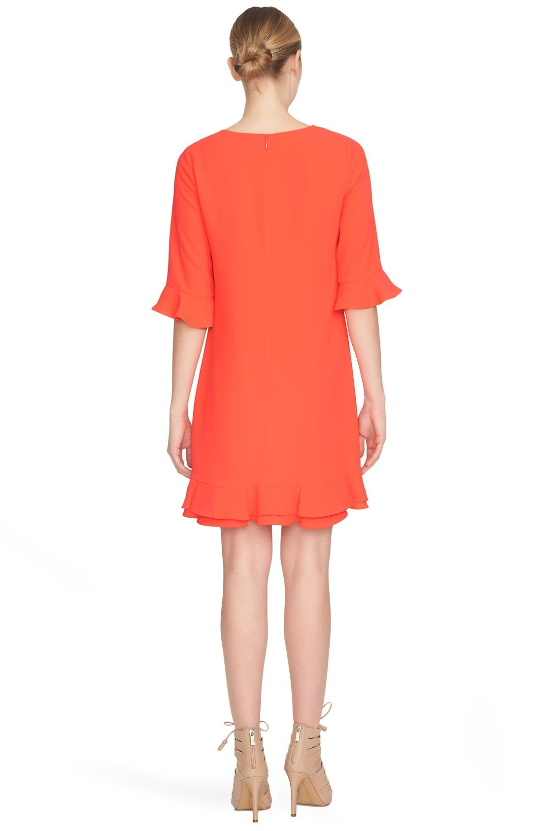 'Kate' Ruffle Hem Shift Dress,                             Alternate thumbnail 20, color,