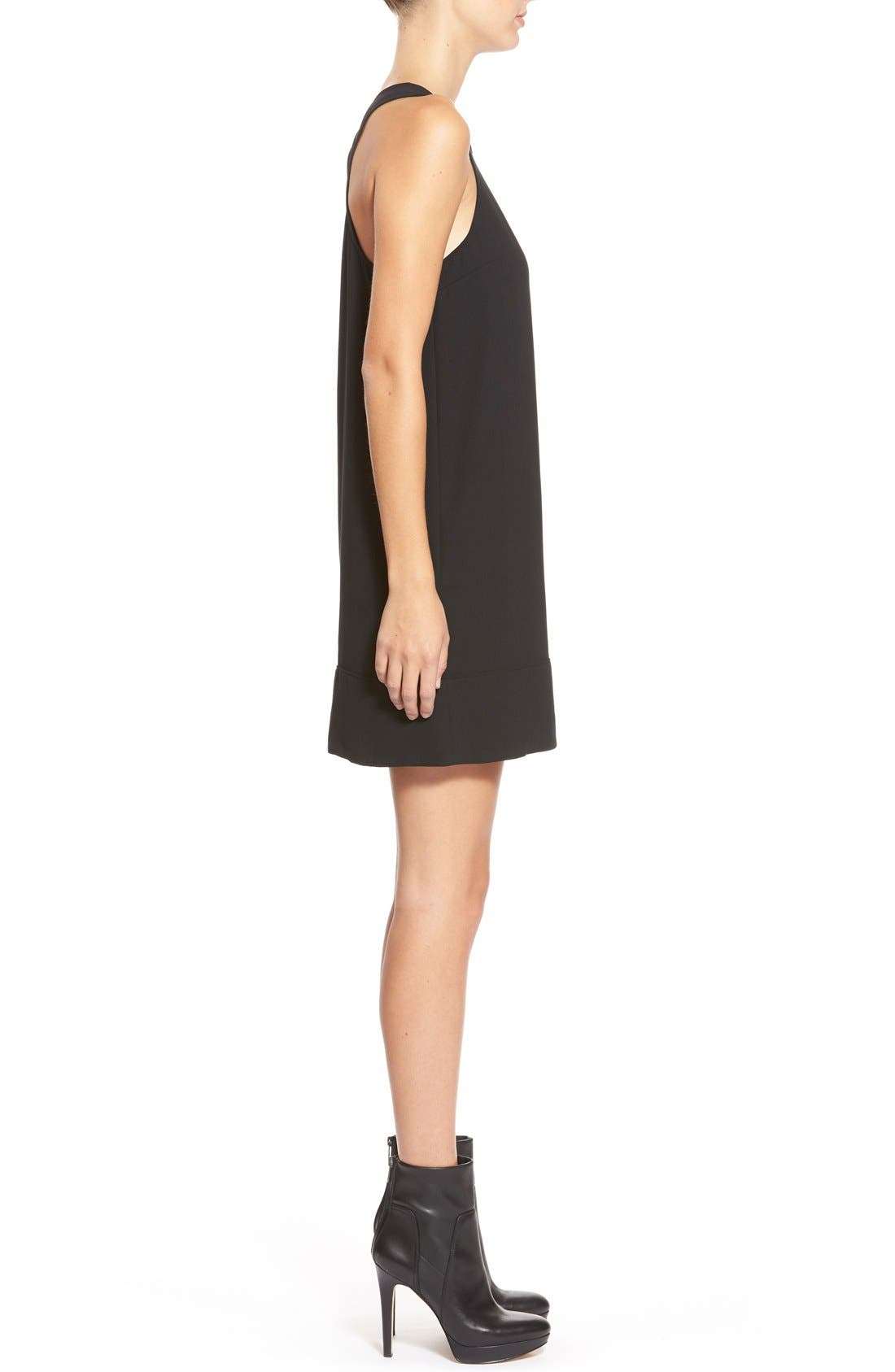 Racerback Shift Dress,                             Alternate thumbnail 8, color,                             001
