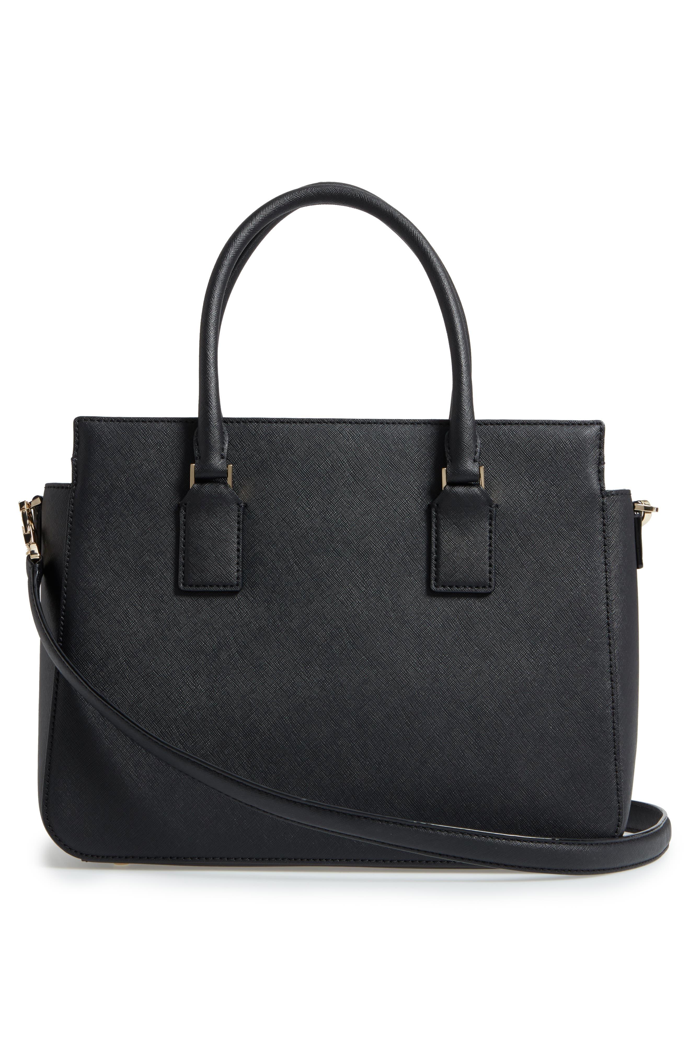 cameron street - sally leather satchel,                             Alternate thumbnail 3, color,                             001