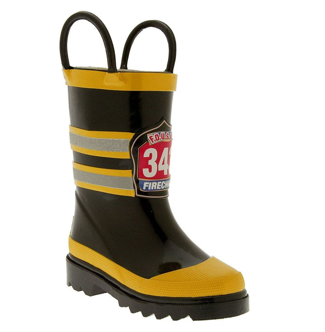 'Fireman' Rain Boot,                             Main thumbnail 1, color,                             BYE