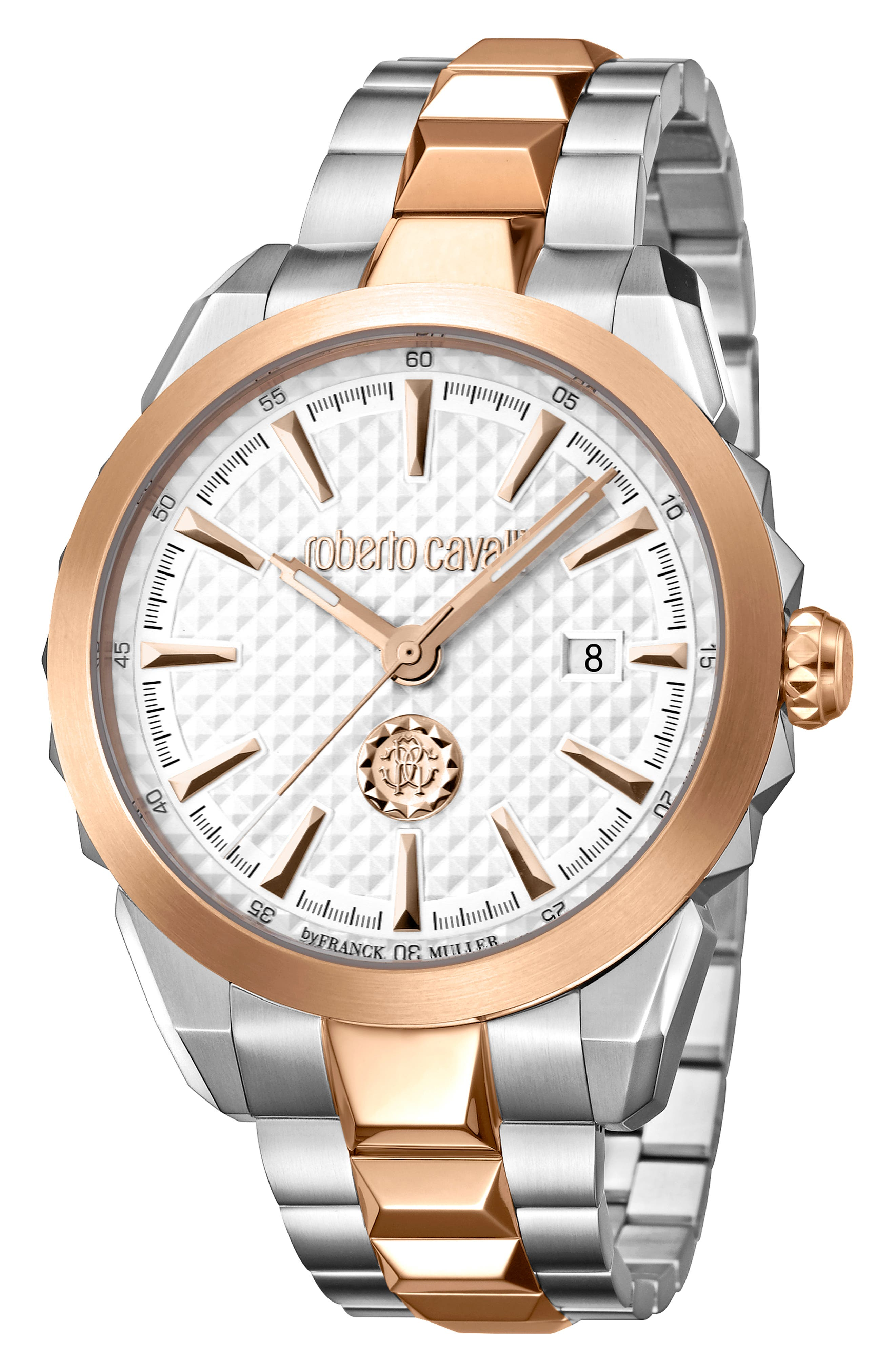 Costellato Bracelet Watch,                             Main thumbnail 1, color,                             ROSE GOLD/ SILVER