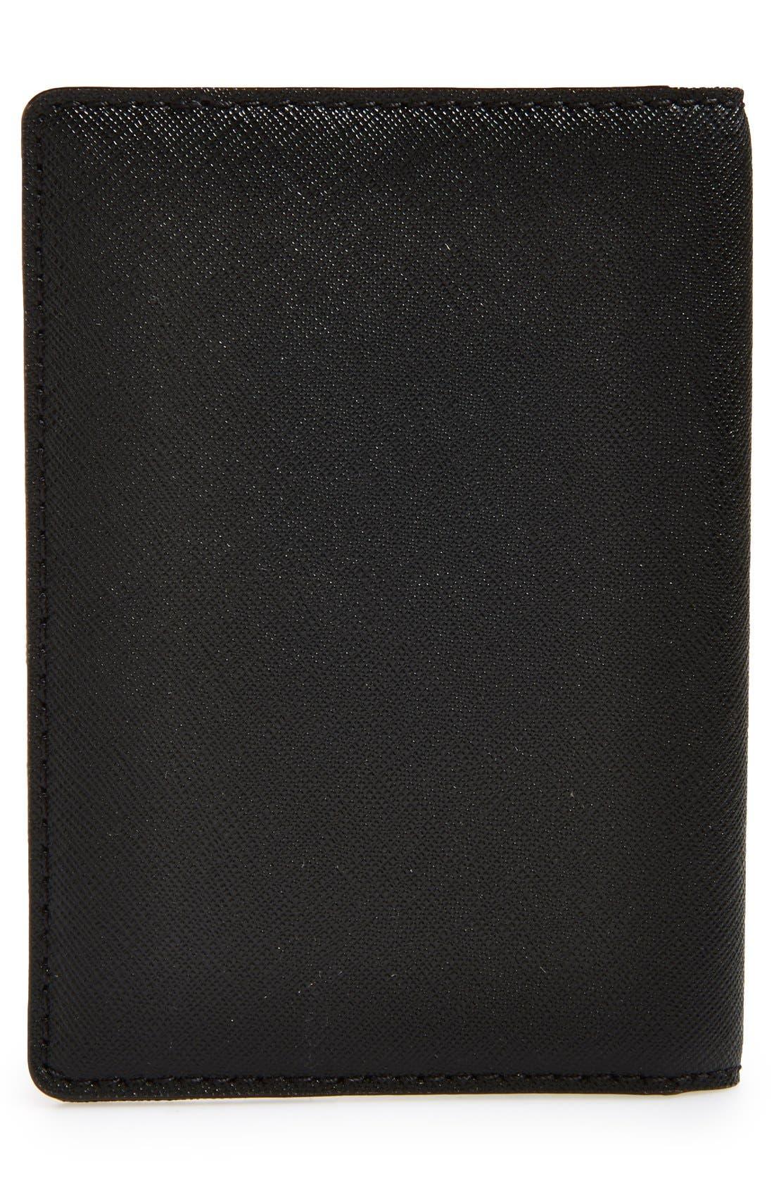 KATE SPADE NEW YORK,                             'cedar street' leather passport holder,                             Alternate thumbnail 2, color,                             001