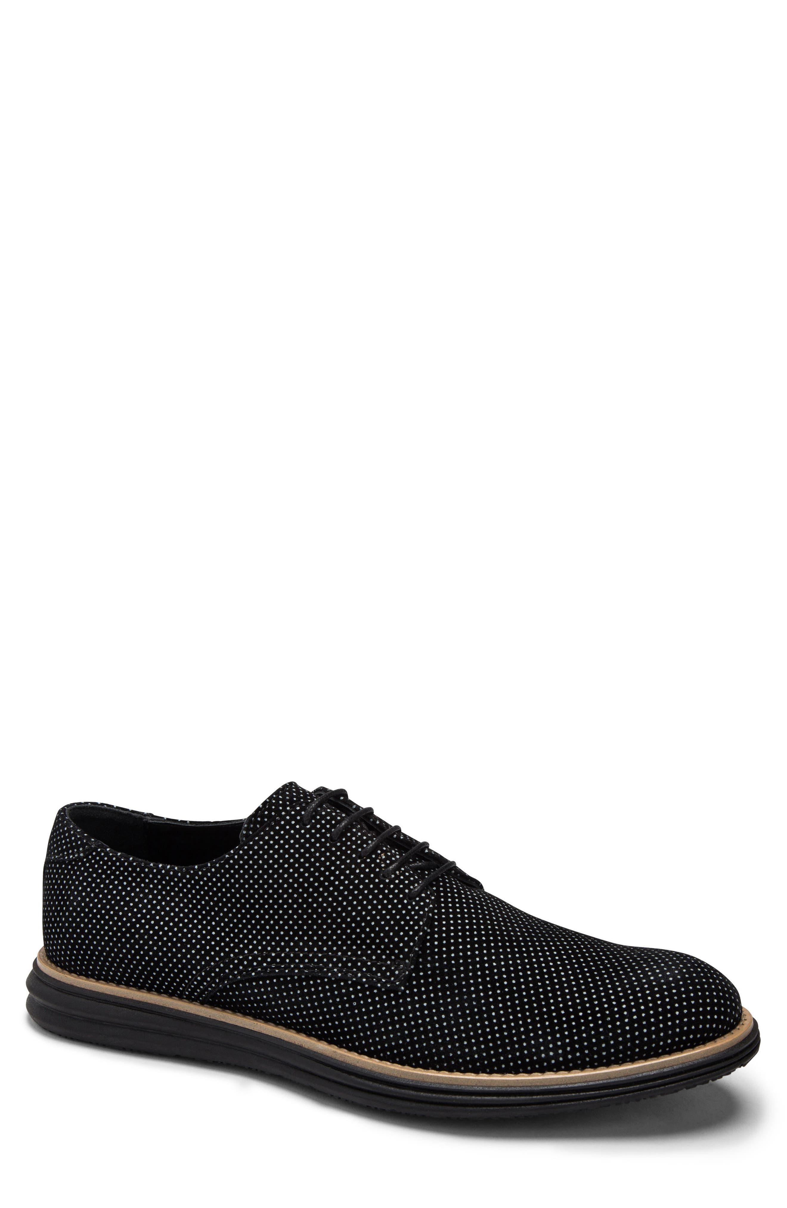 men's bugatchi manarola plain toe derby, size 11.5 m - black