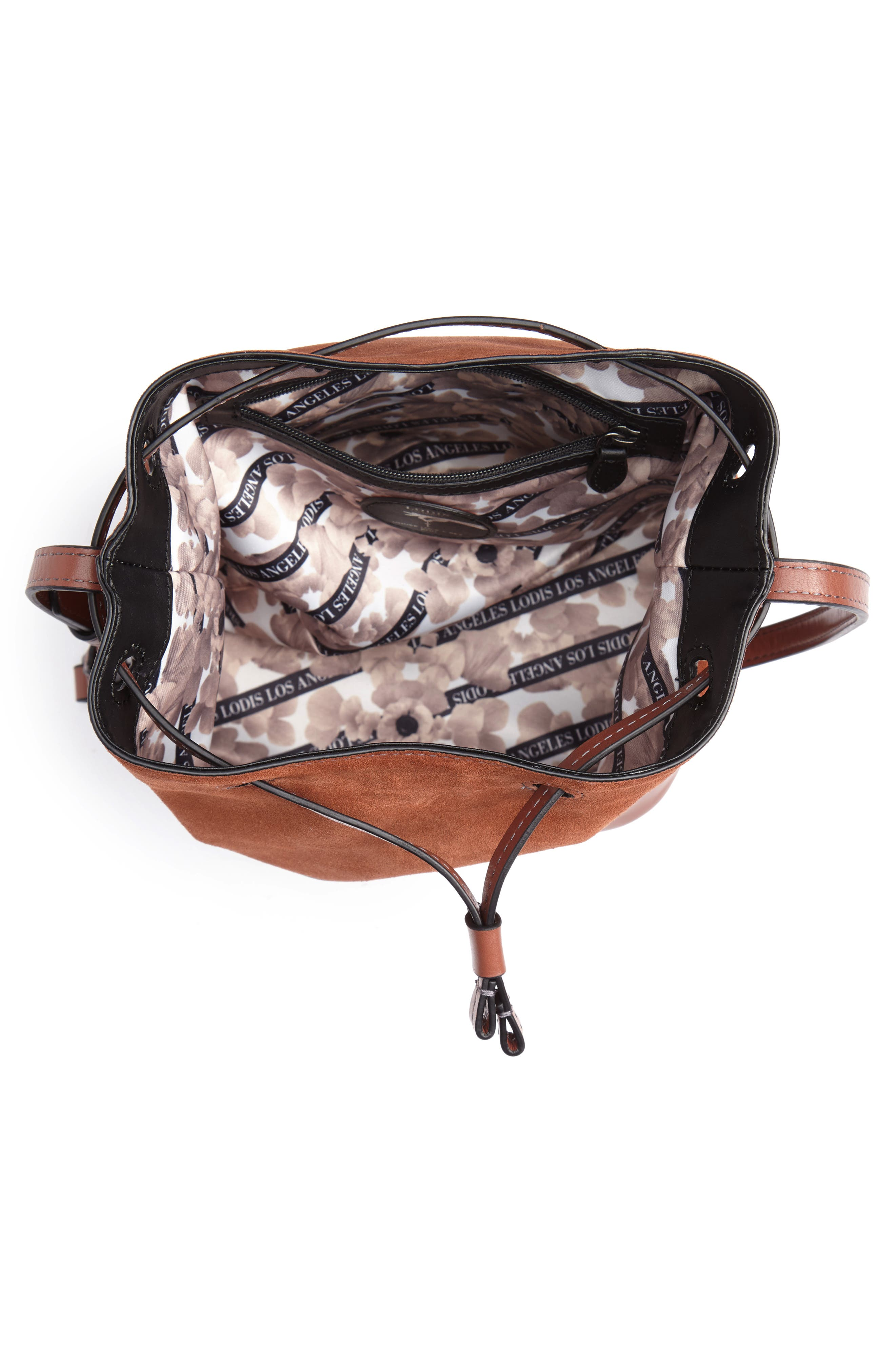 Small Blake RFID Leather Bucket Bag,                             Alternate thumbnail 4, color,                             202