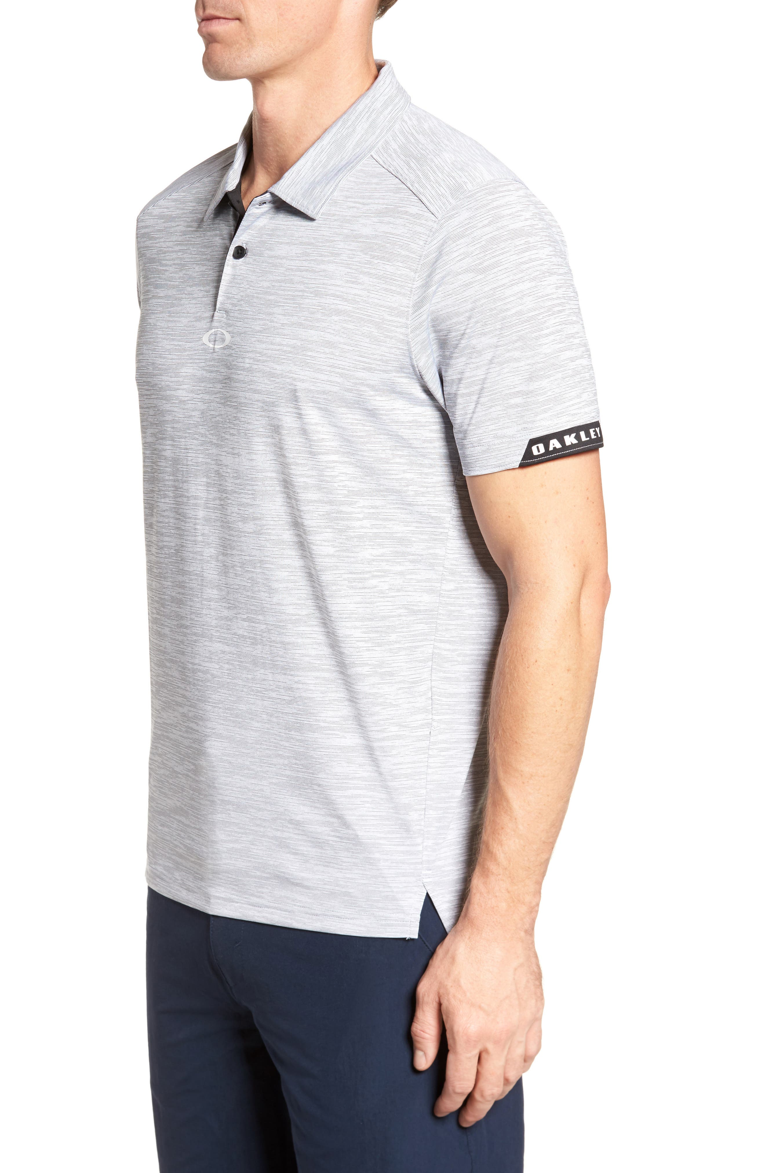 Gravity Polo Shirt,                             Alternate thumbnail 3, color,                             BLACKOUT