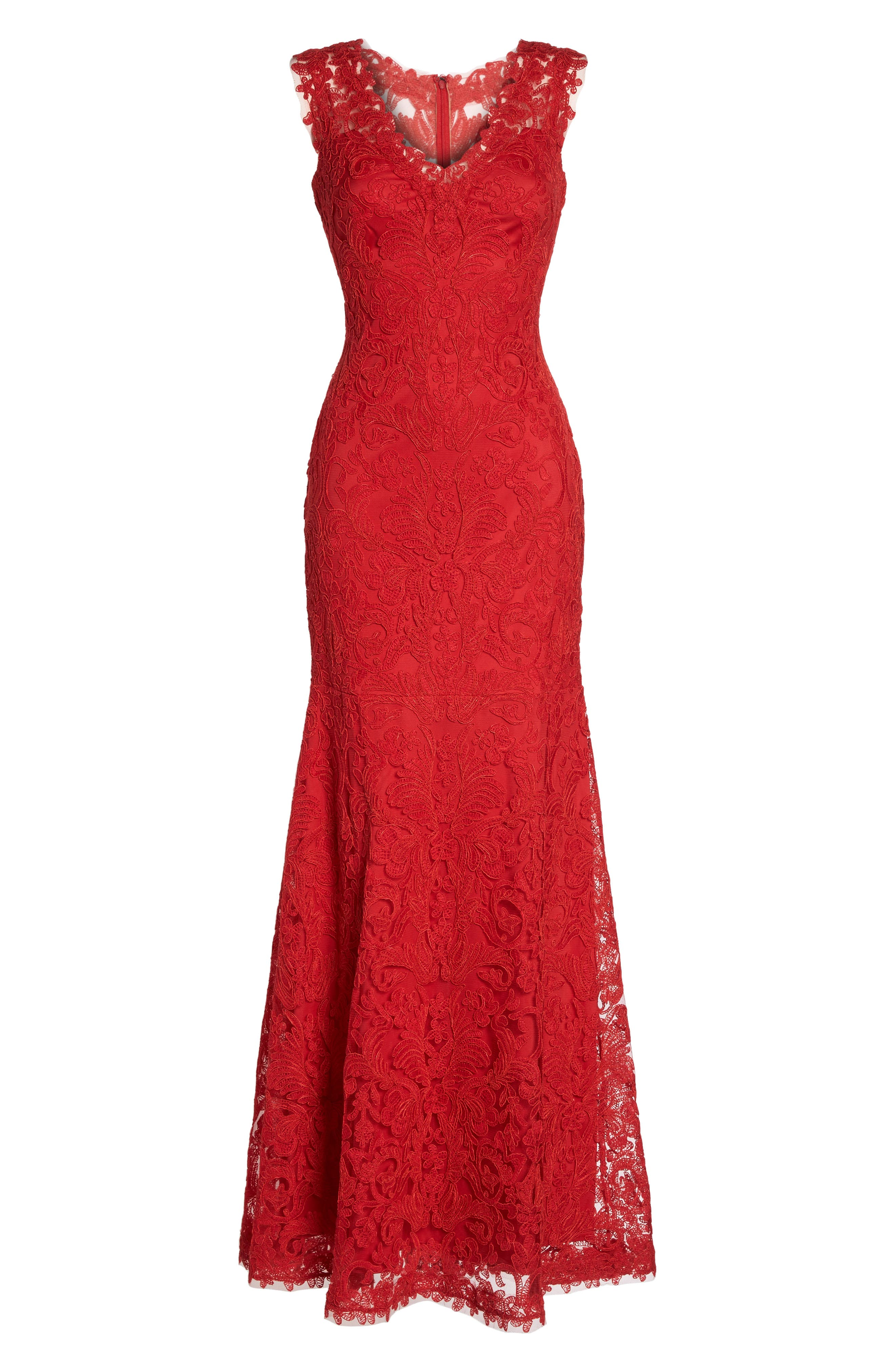 Kelly Embroidered Mermaid Gown,                             Alternate thumbnail 6, color,                             611