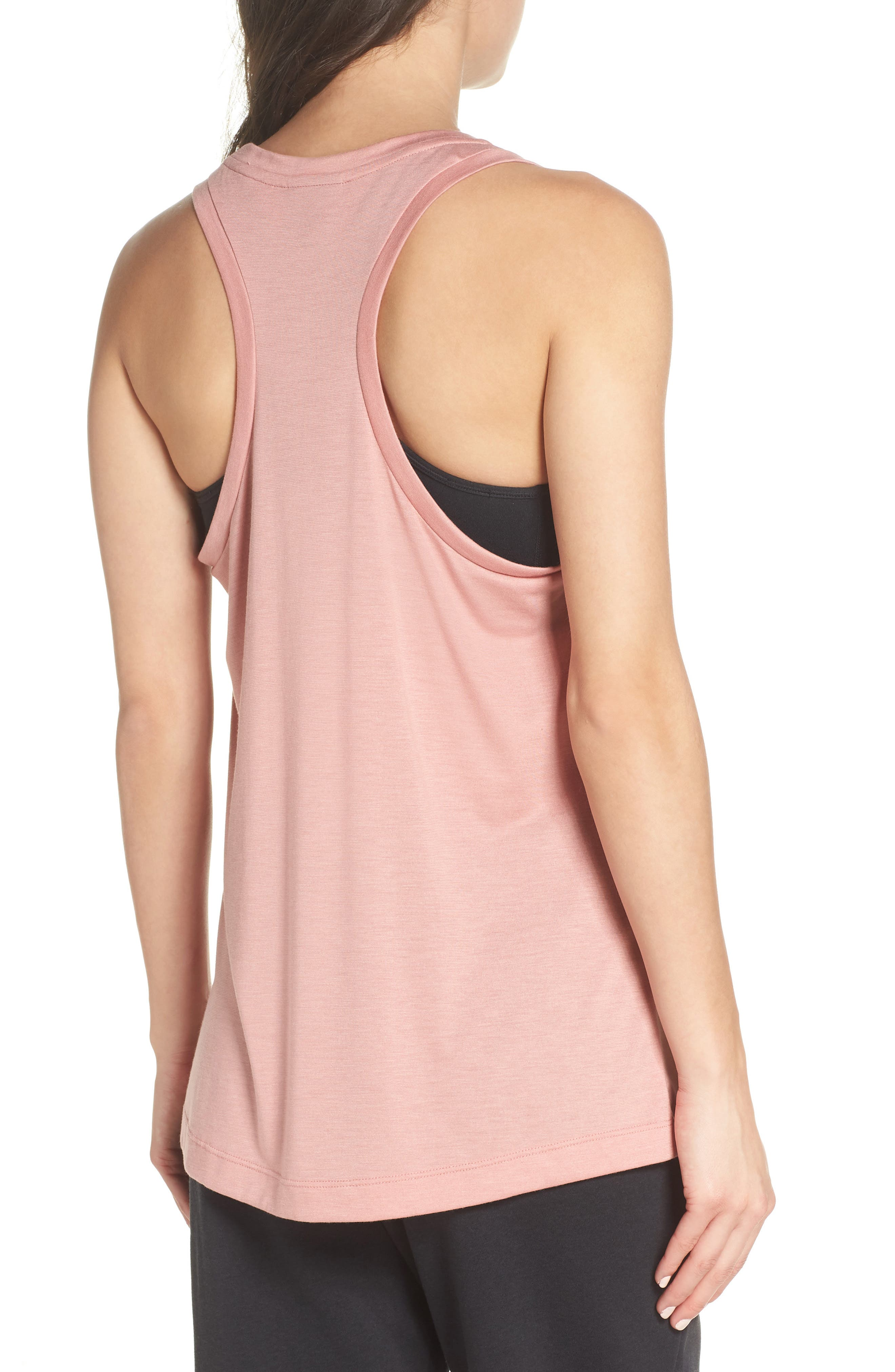 Essential Logo Tank,                             Alternate thumbnail 2, color,                             RUST PINK/ RUST PINK/ WHITE