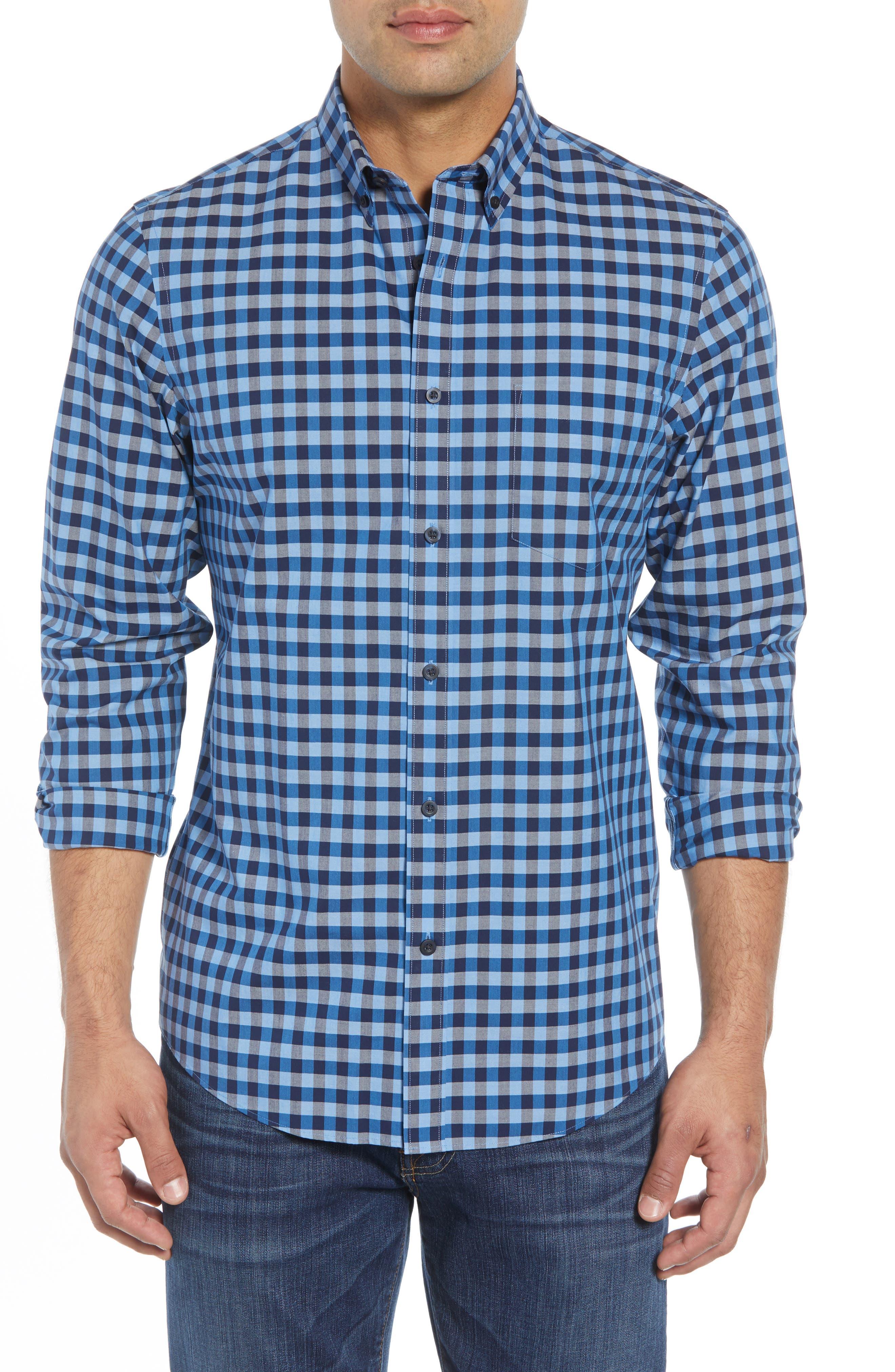 Nordstrom Shop Smartcare(TM) Regular Fit Gingham Sport Shirt