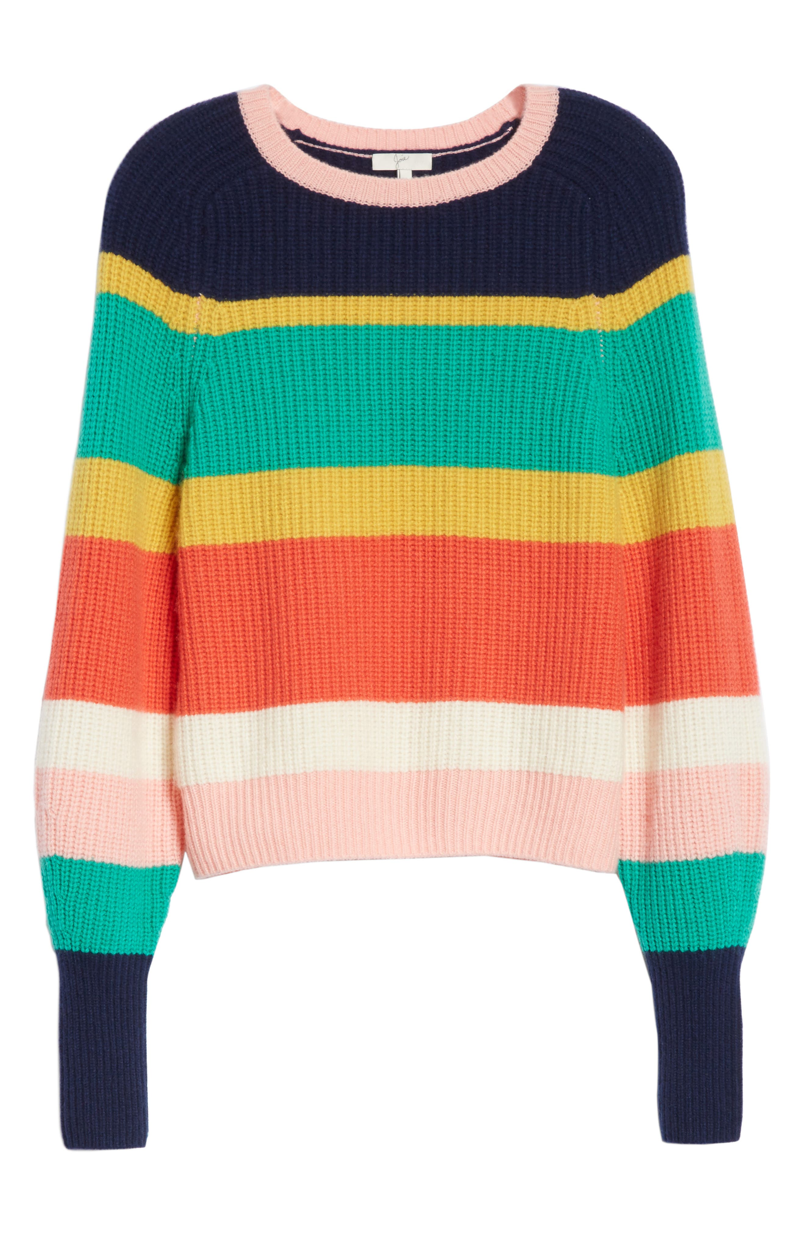 Haady Stripe Wool & Cashmere Sweater,                             Alternate thumbnail 6, color,                             475