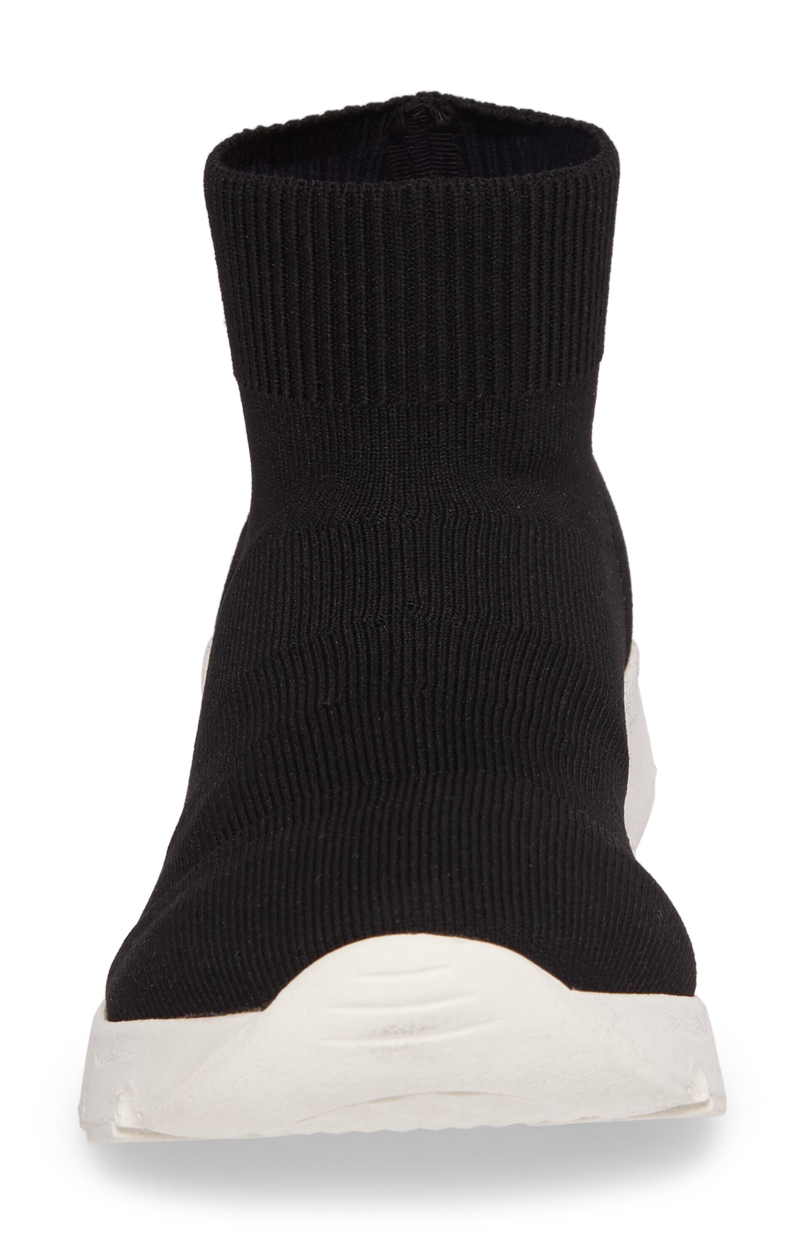 Winston Knit High Top Sneaker,                             Alternate thumbnail 4, color,                             001