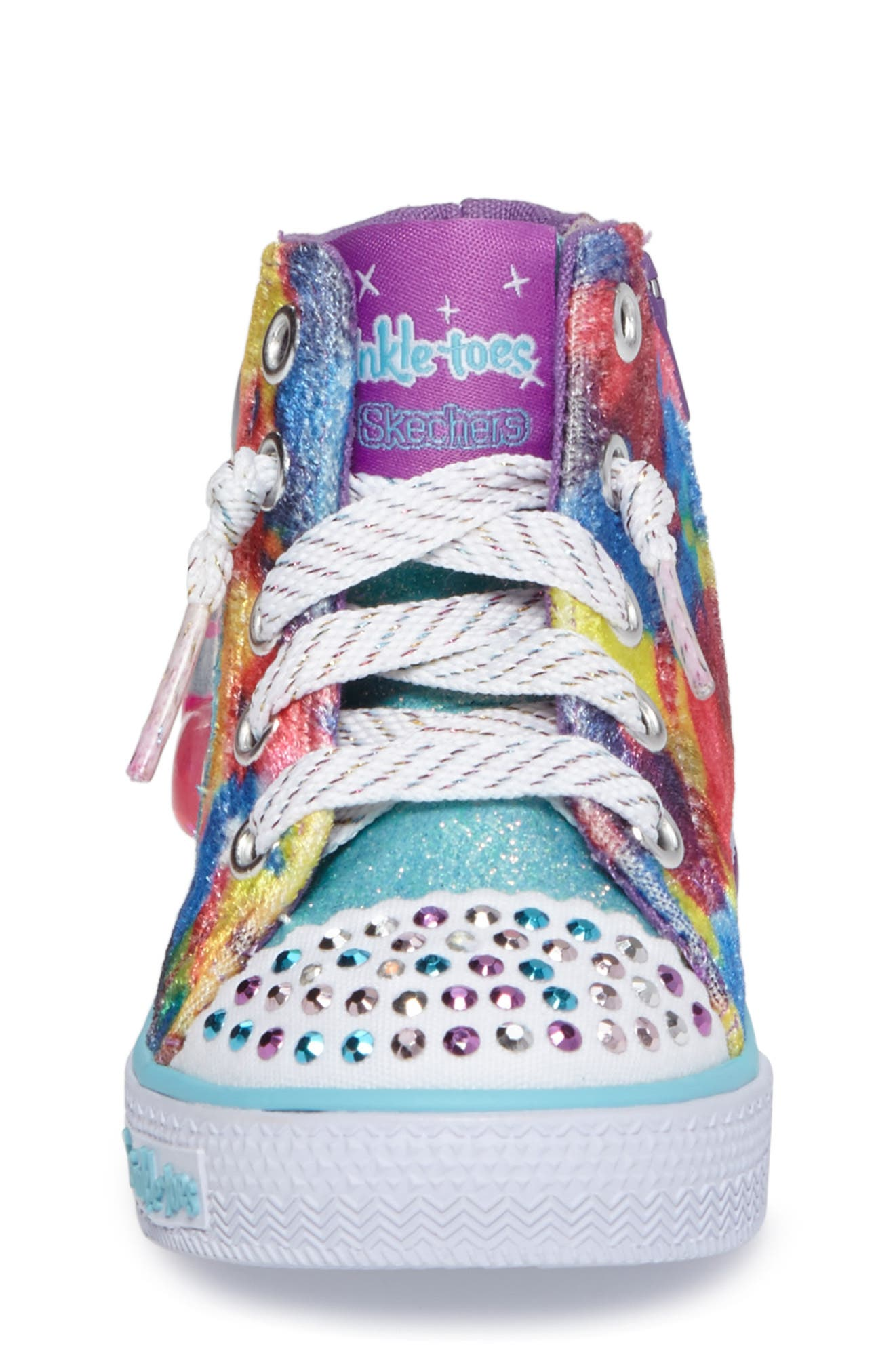 Twinkle Toes Shuffles Light-Up High Top Sneaker,                             Alternate thumbnail 7, color,