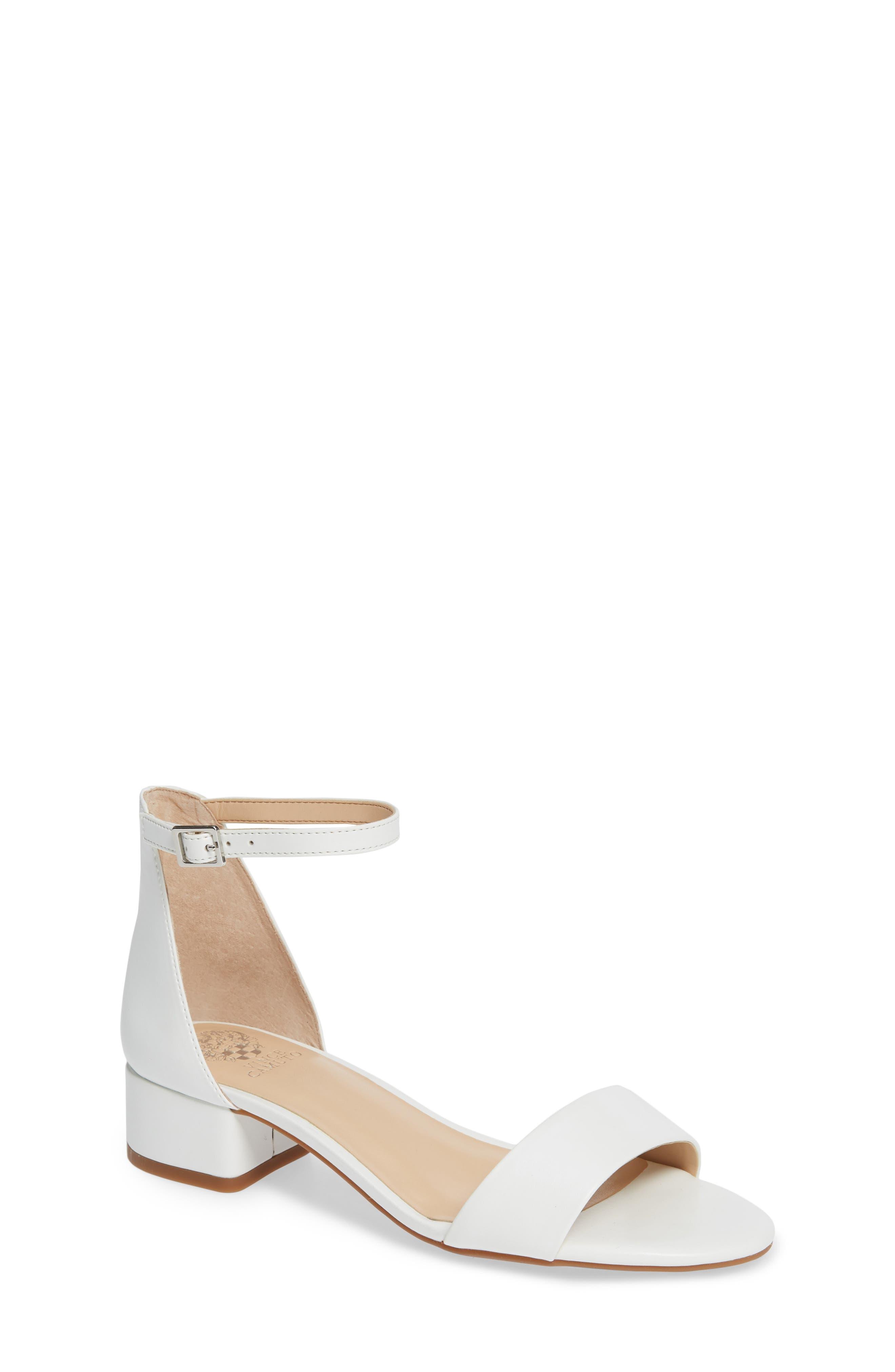 Pascala Sandal,                         Main,                         color, WHITE