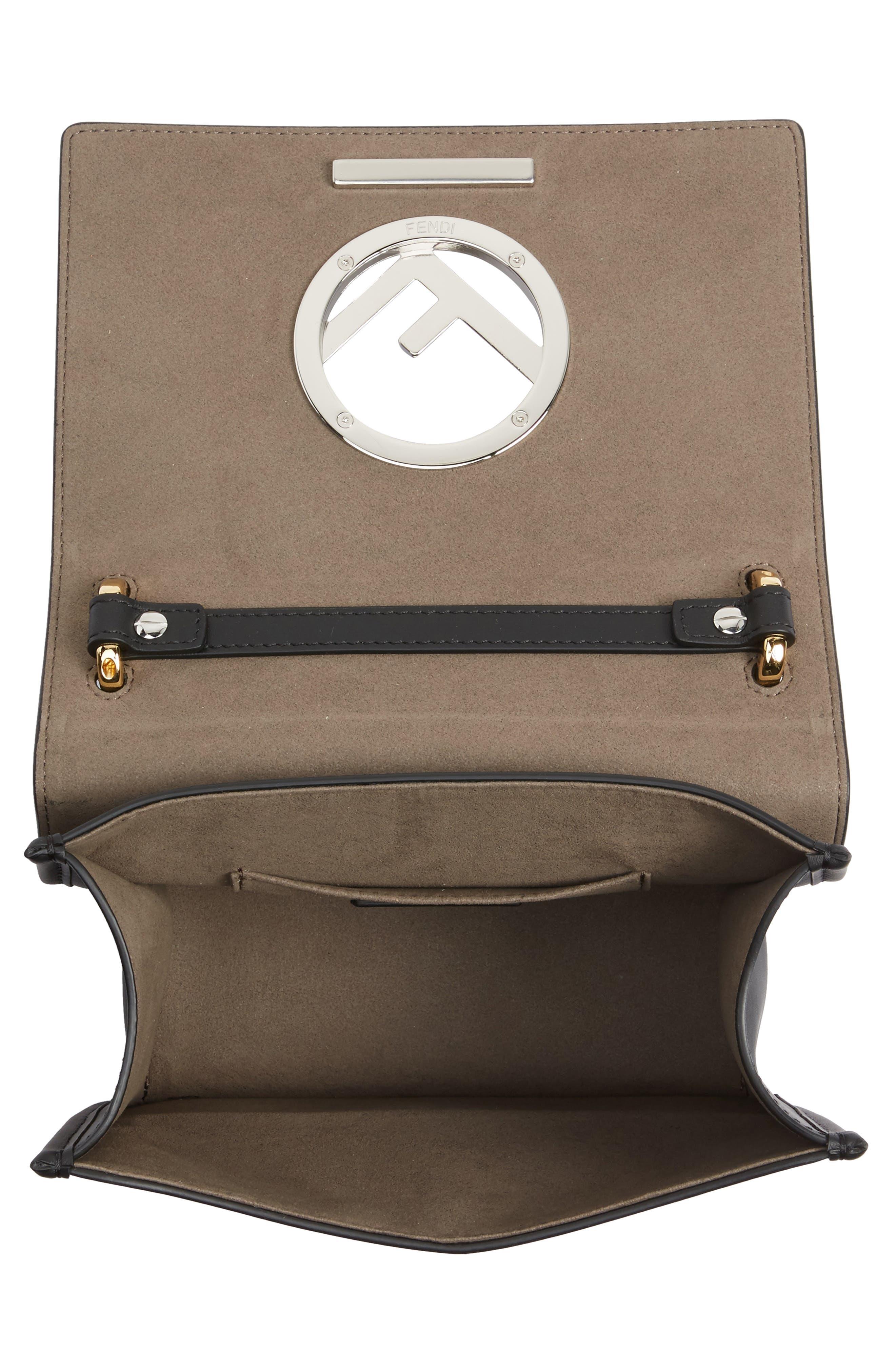 Kan I Calfskin Leather Shoulder Bag,                             Alternate thumbnail 4, color,                             004