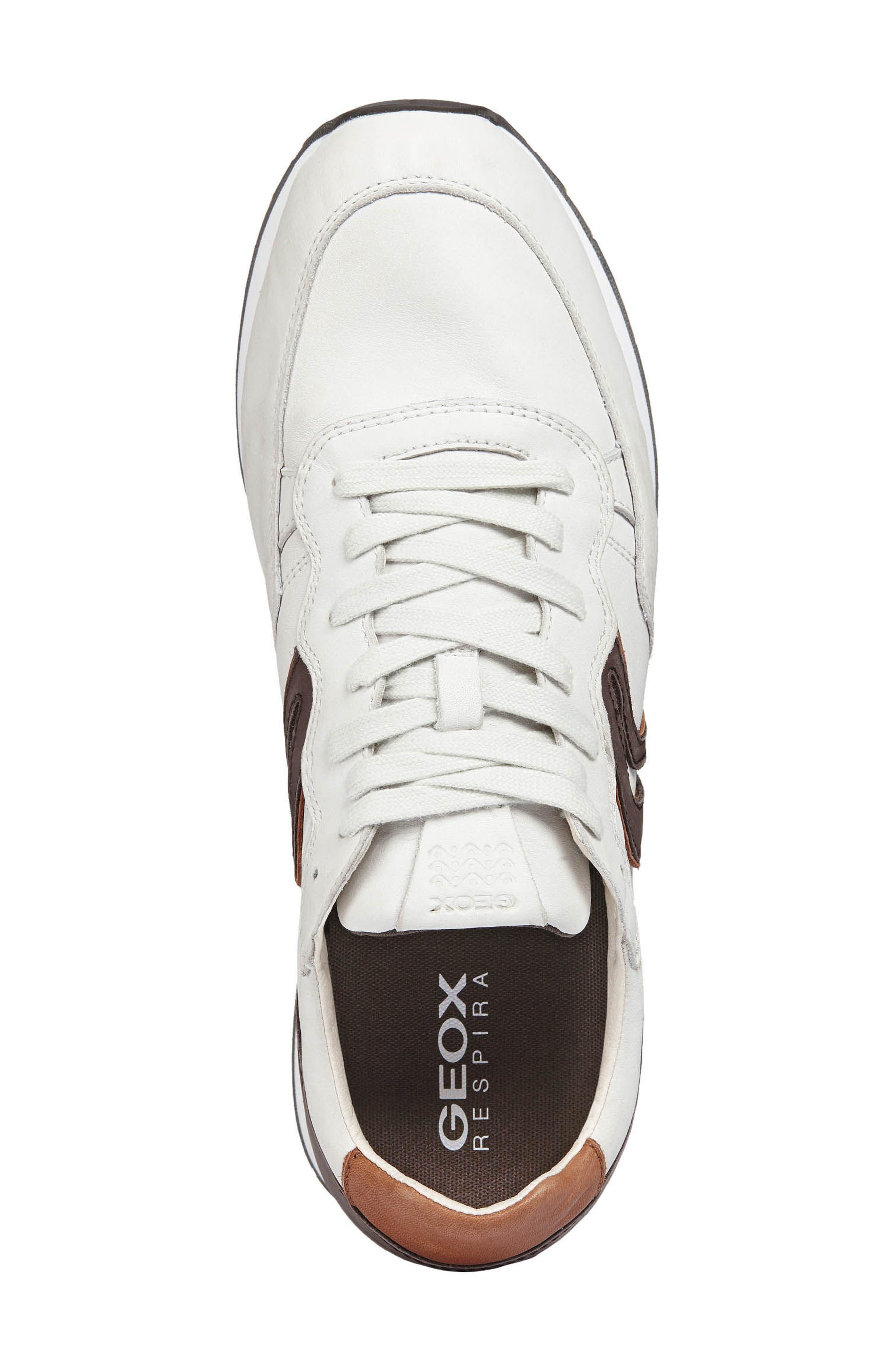 Vincint 1 Sneaker,                             Alternate thumbnail 5, color,                             WHITE/ DARK COFFEE LEATHER
