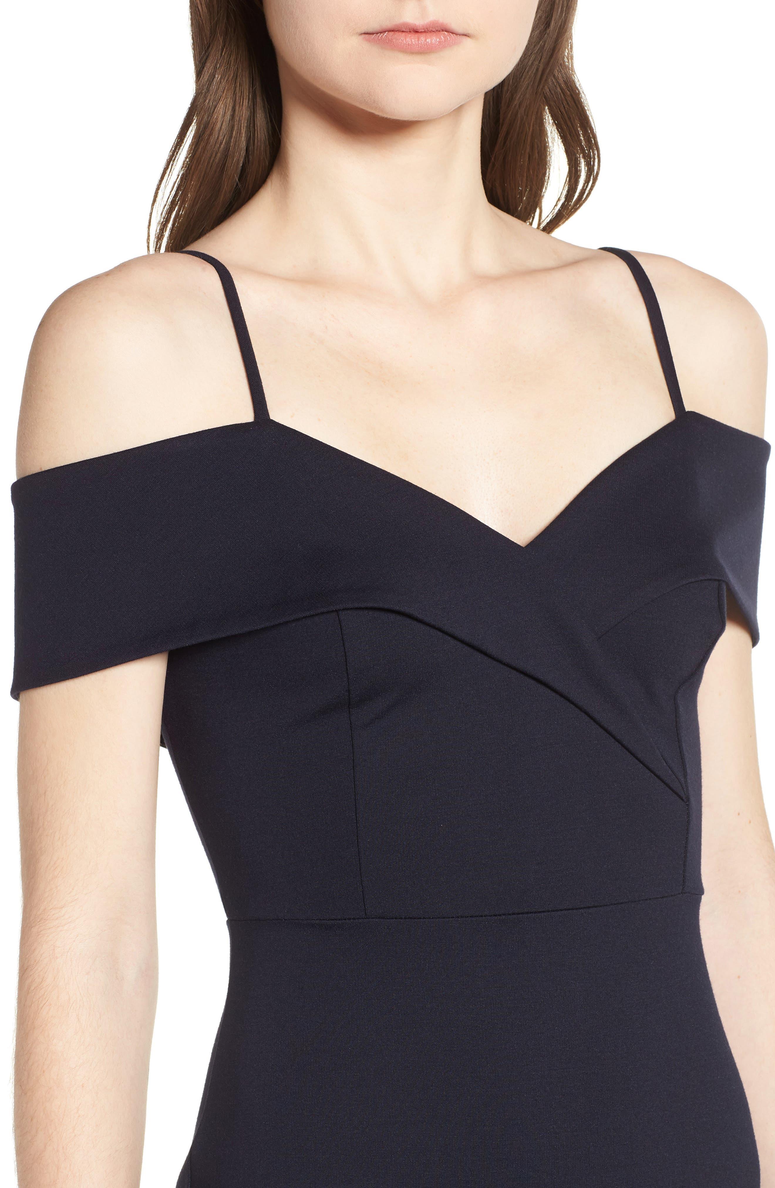 Cold Shoulder Body-Con Dress,                             Alternate thumbnail 12, color,
