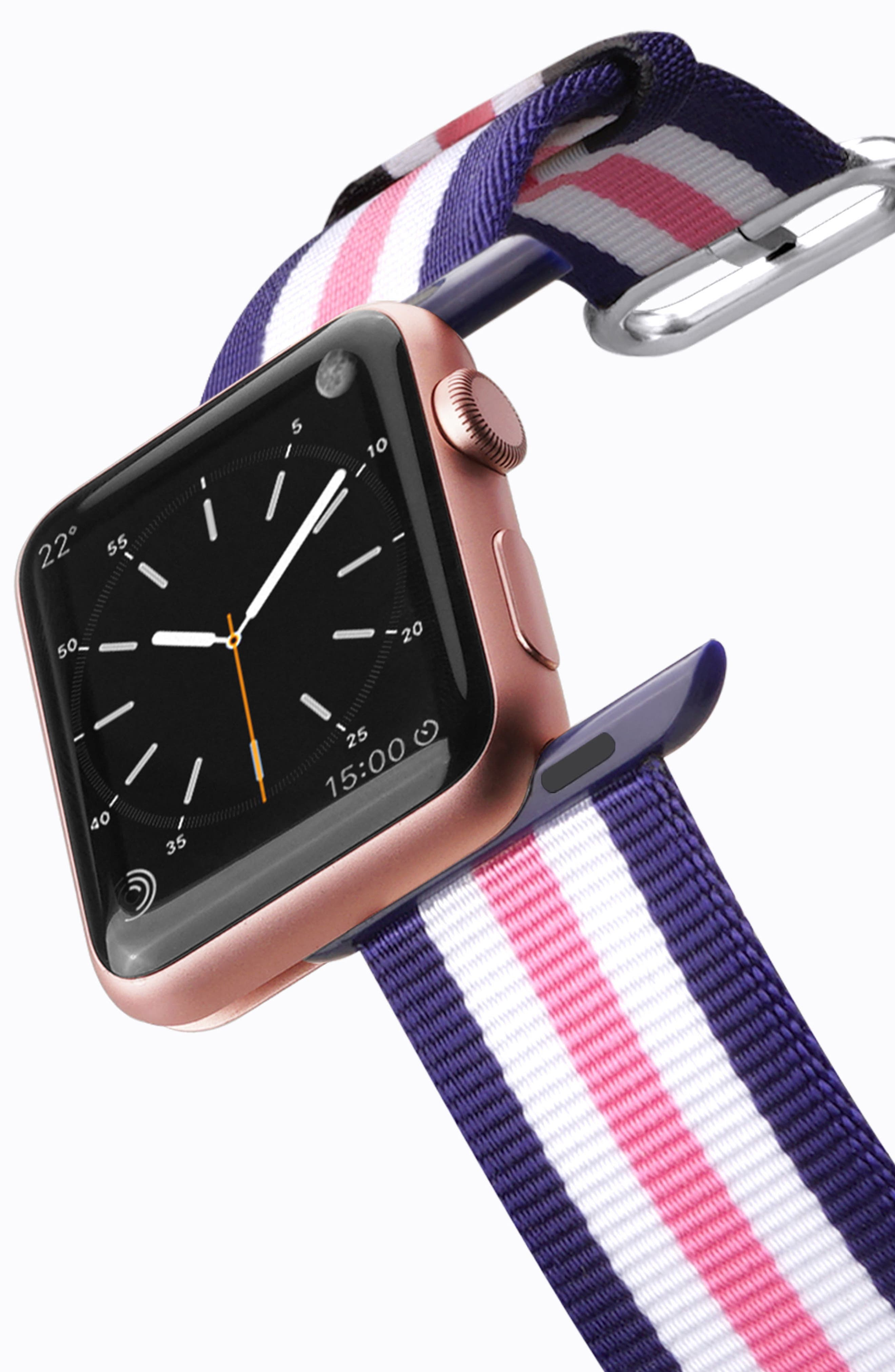 Nylon Apple Watch Strap, 38mm,                             Alternate thumbnail 11, color,