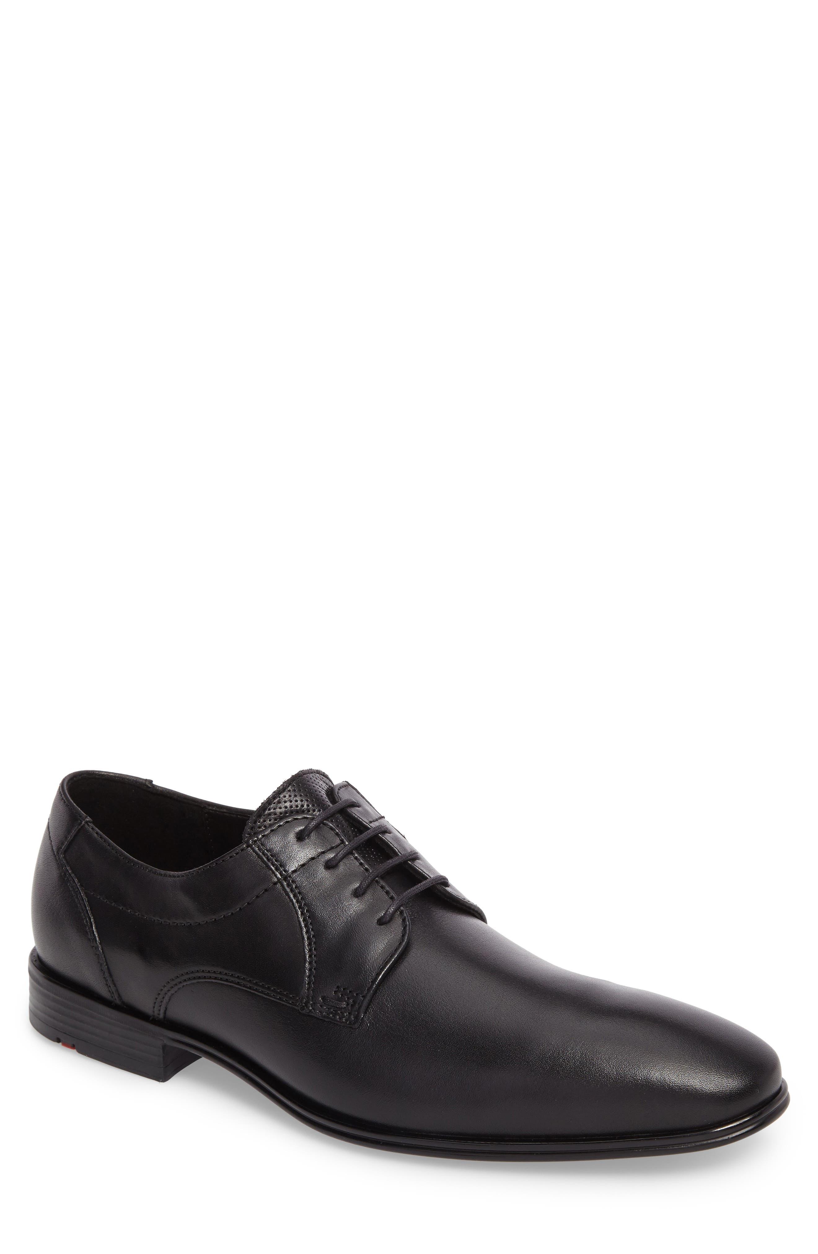 Osmond Plain Toe Derby,                         Main,                         color, BLACK LEATHER