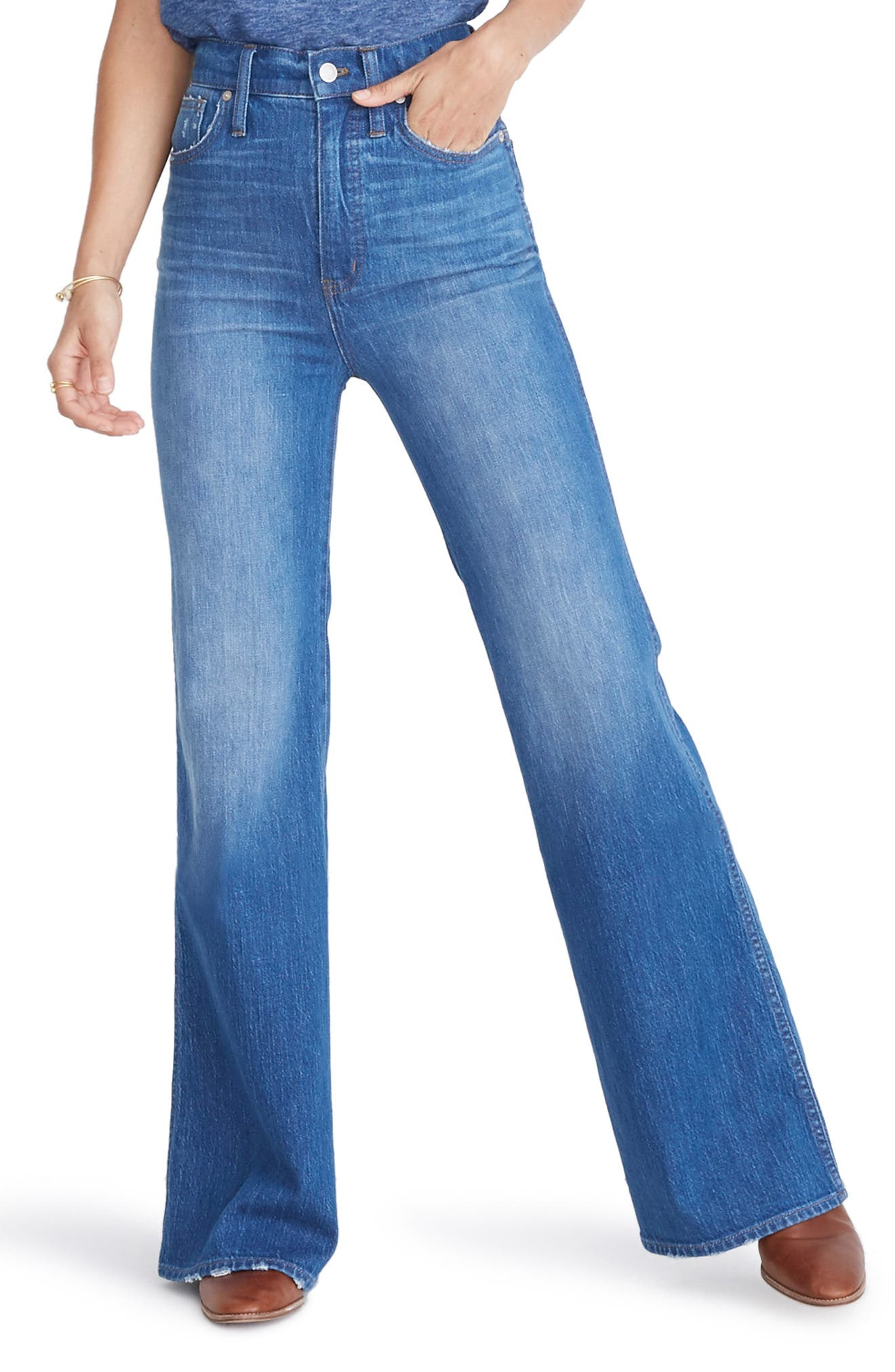 huge discount b2924 44004 60s – 70s Pants, Jeans, Hippie, Bell Bottoms, Jumpsuits Womens Madewell High