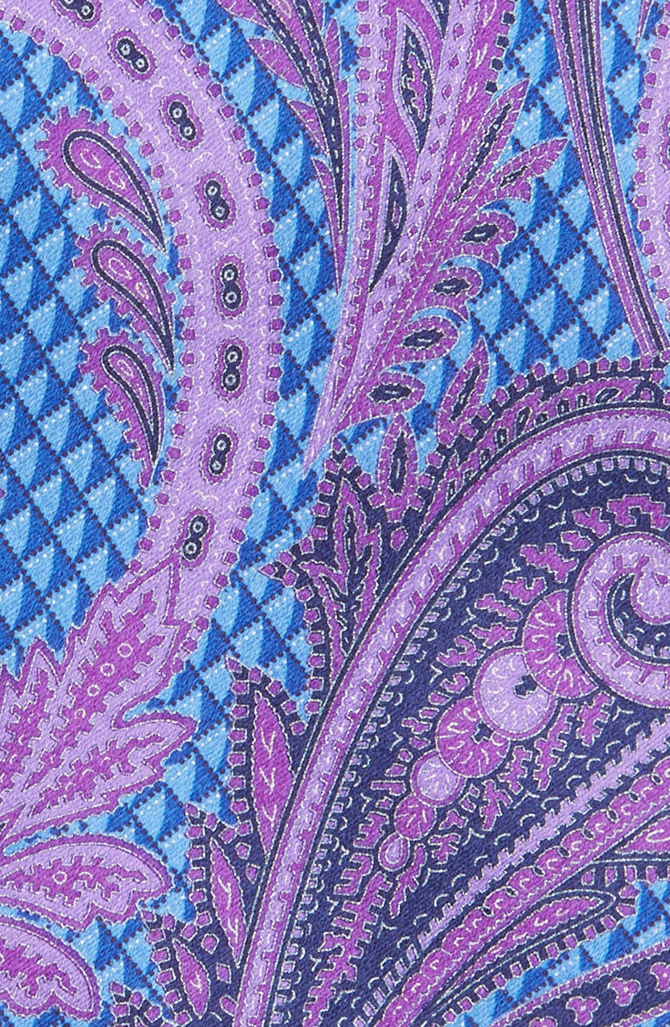 Paisley Floral Silk Tie,                             Alternate thumbnail 6, color,