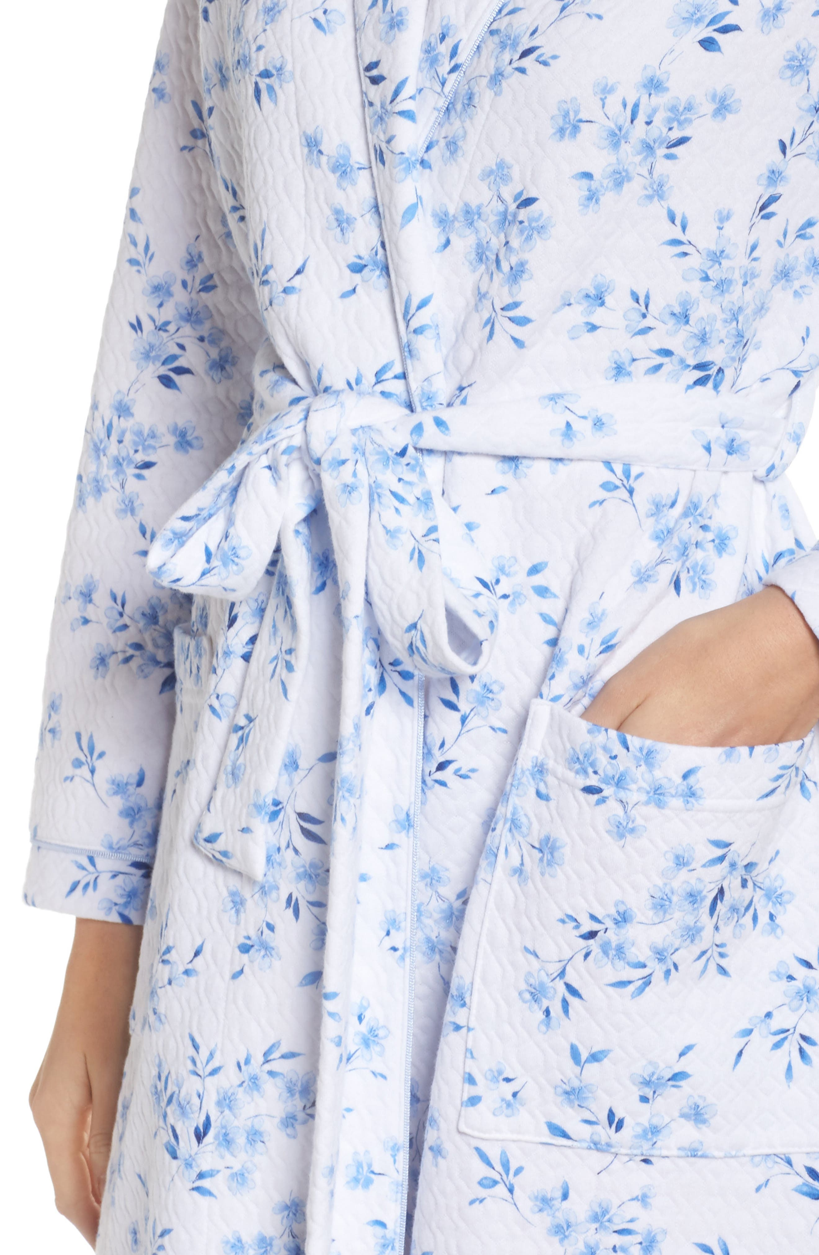 Quilted Robe,                             Alternate thumbnail 4, color,                             FLORAL TWIN