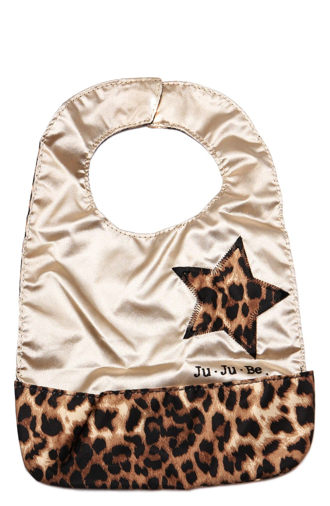 'Be Neat' Reversible Bib,                         Main,                         color, THE QUEEN OF THE JUNGLE