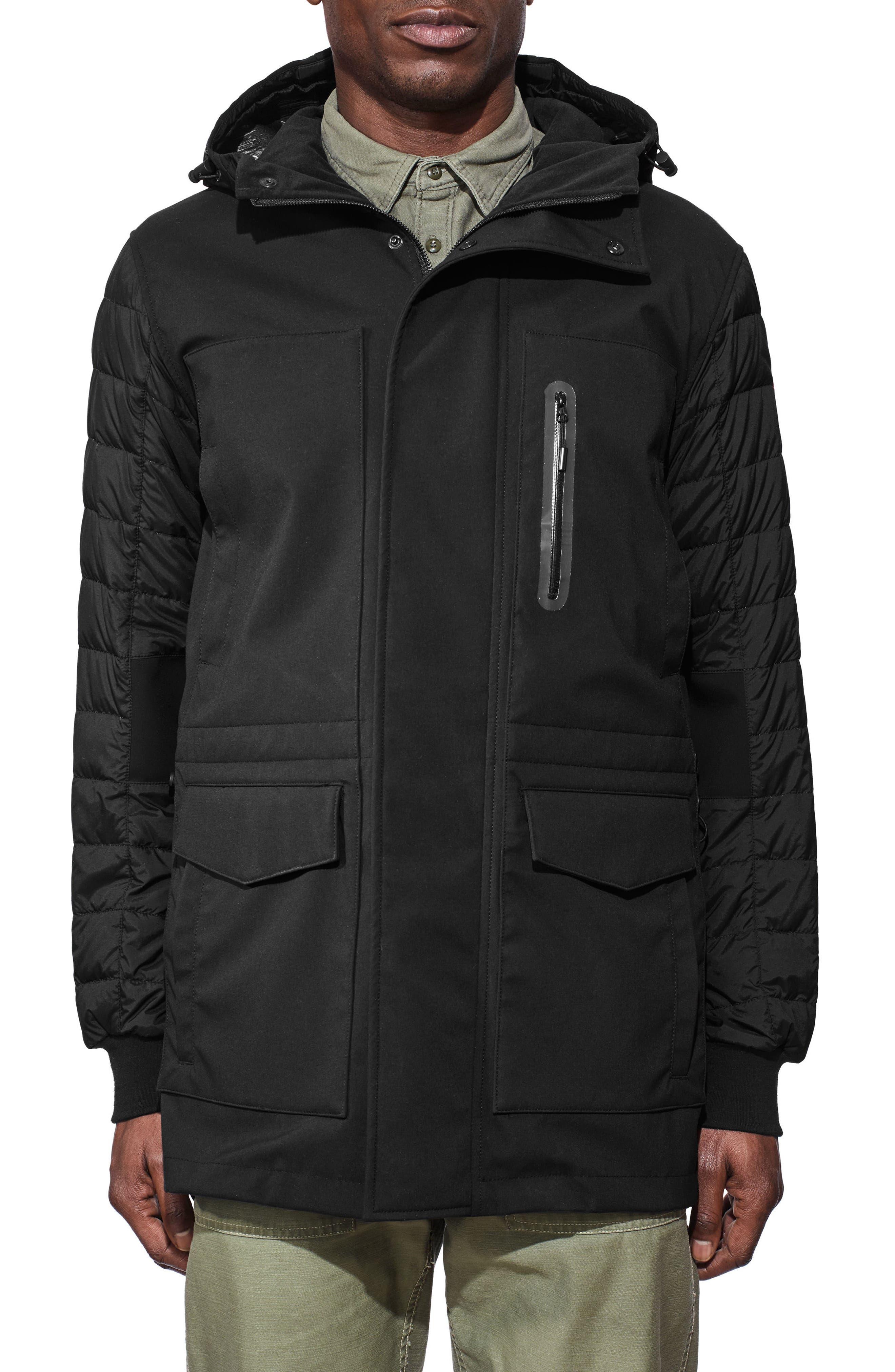 Selwyn Down Filled Coat,                         Main,                         color, BLACK/ BLACK