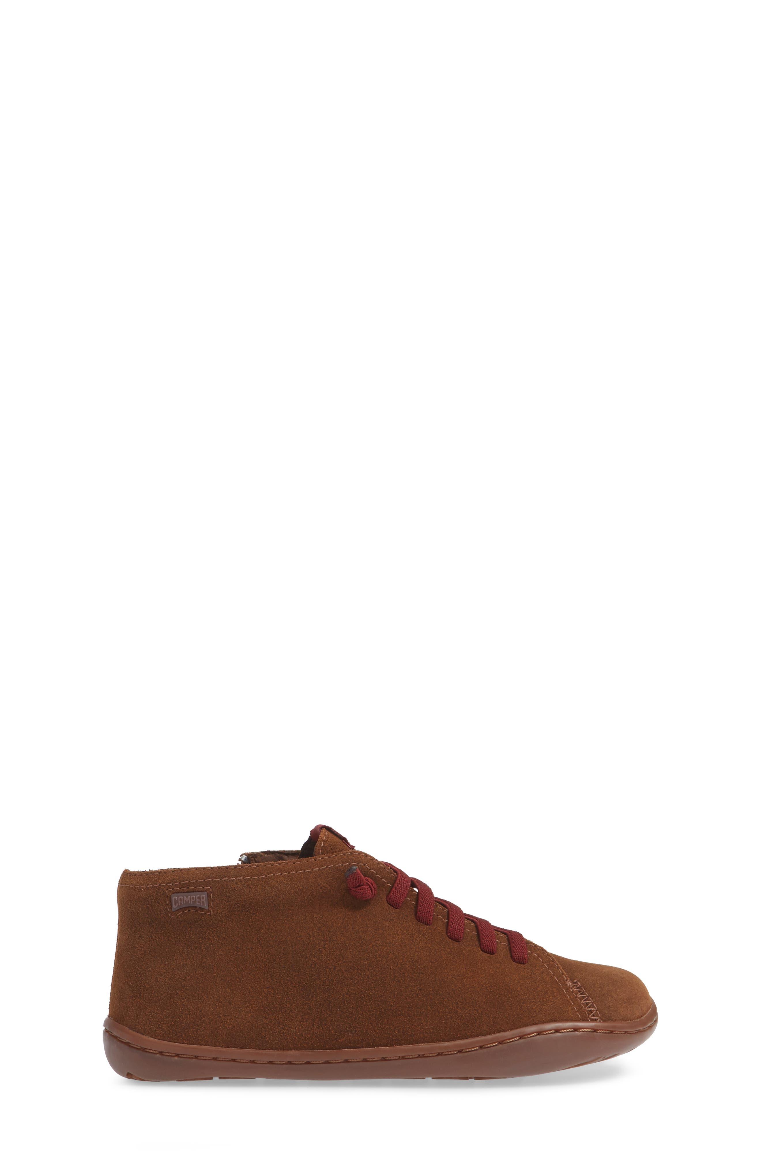 Peu Cami Sneaker,                             Alternate thumbnail 3, color,                             MEDIUM BROWN