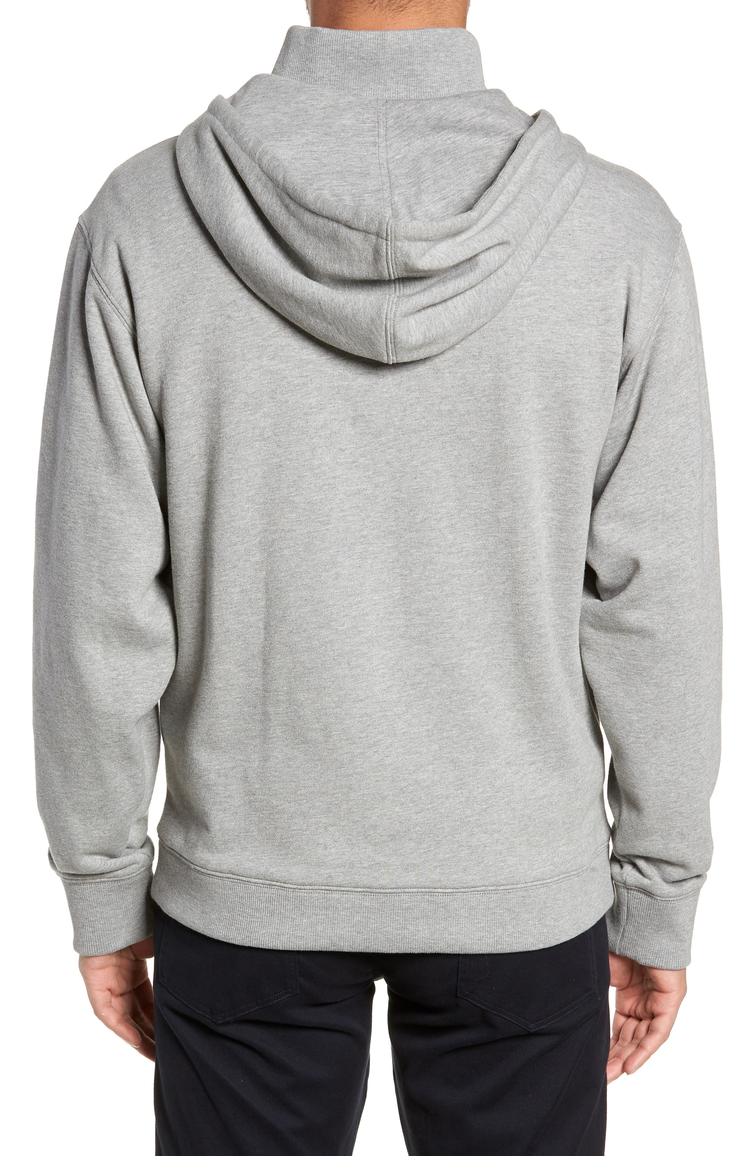 Regular Fit Half Zip Hoodie,                             Alternate thumbnail 2, color,                             H GREY